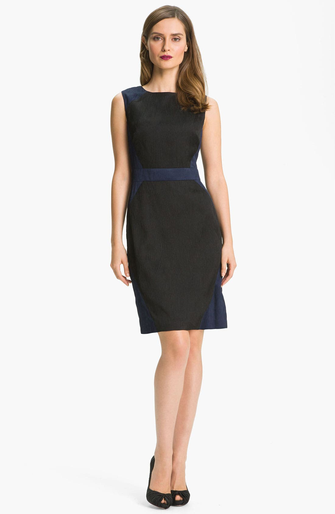 Alternate Image 3  - Adrianna Papell Colorblock Jacquard Sheath Dress