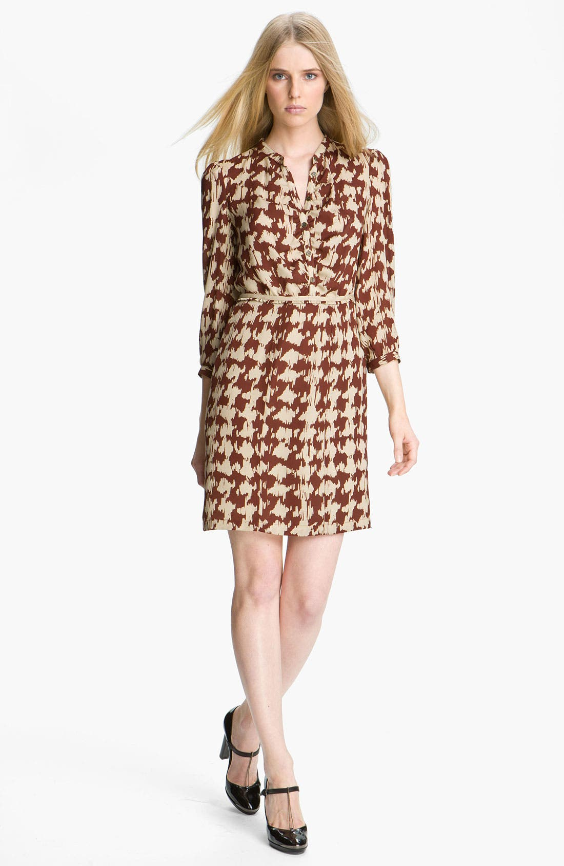 Alternate Image 1 Selected - Burberry Brit Print Silk Dress