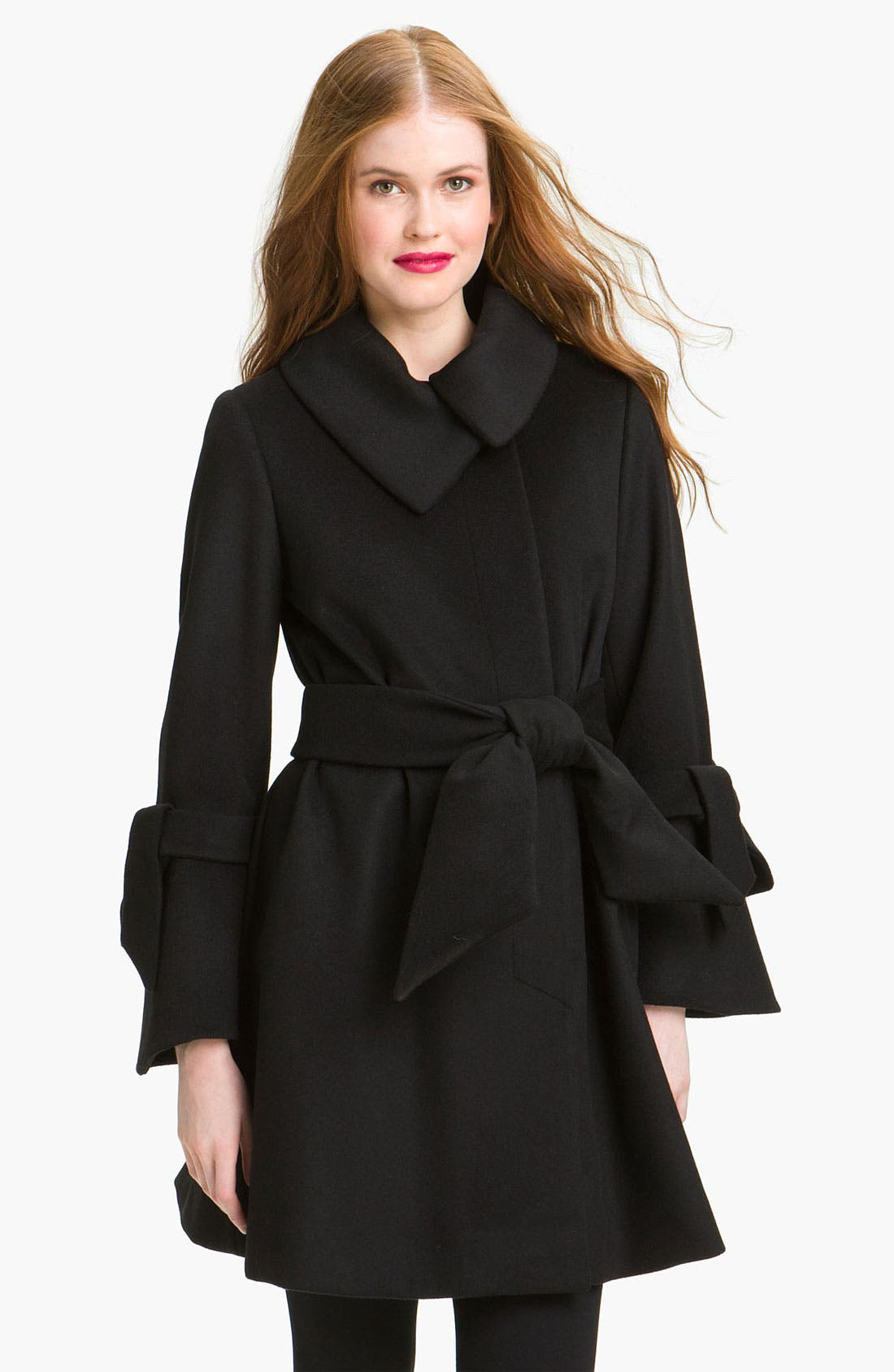 Main Image - George Simonton Couture Belted Swing Coat