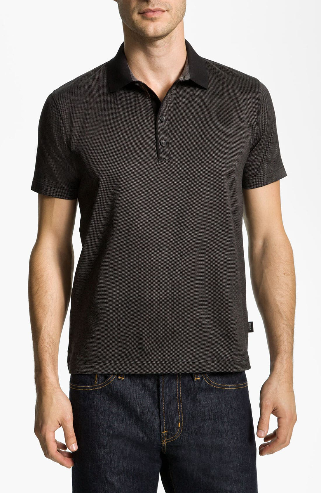 Alternate Image 1 Selected - BOSS Black 'Genova 19' Slim Fit Polo