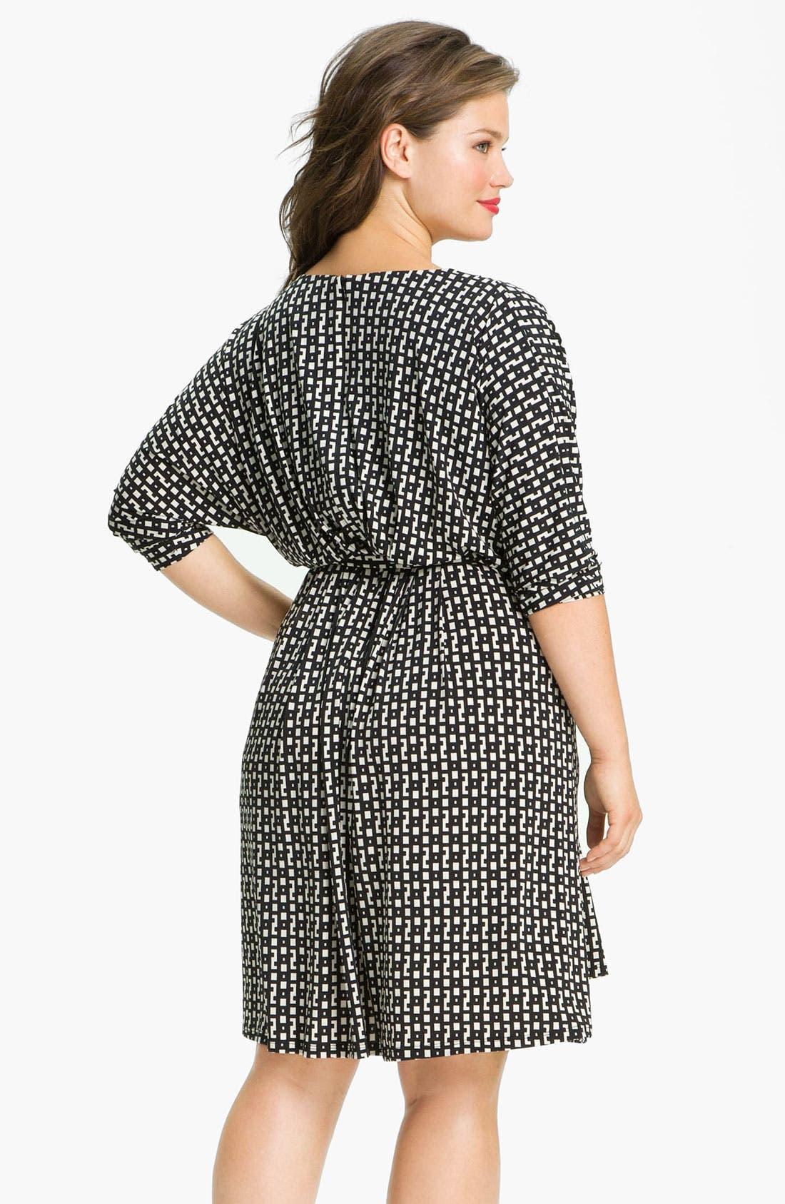 Alternate Image 2  - Suzi Chin for Maggy Boutique Dolman Sleeve V-Neck Dress (Plus)
