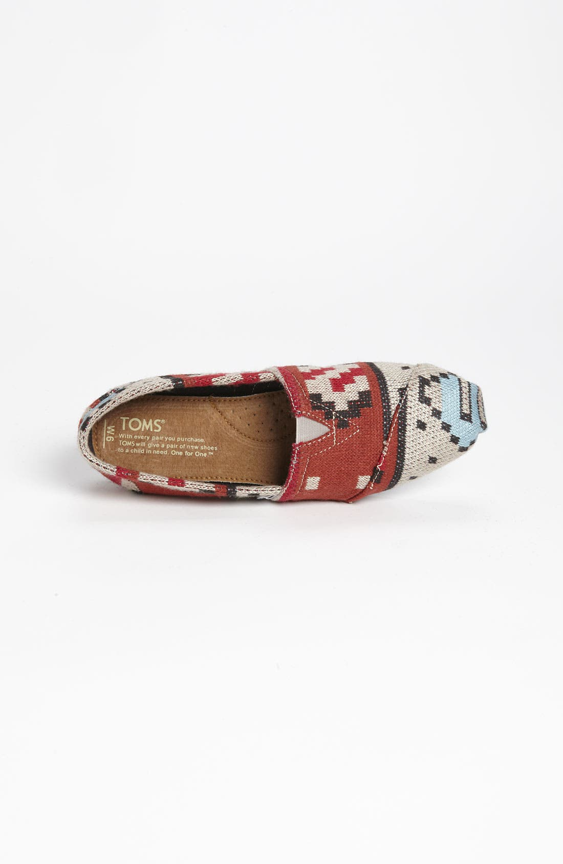 Alternate Image 3  - TOMS 'Classic - Tribal' Knit Slip-On (Women)