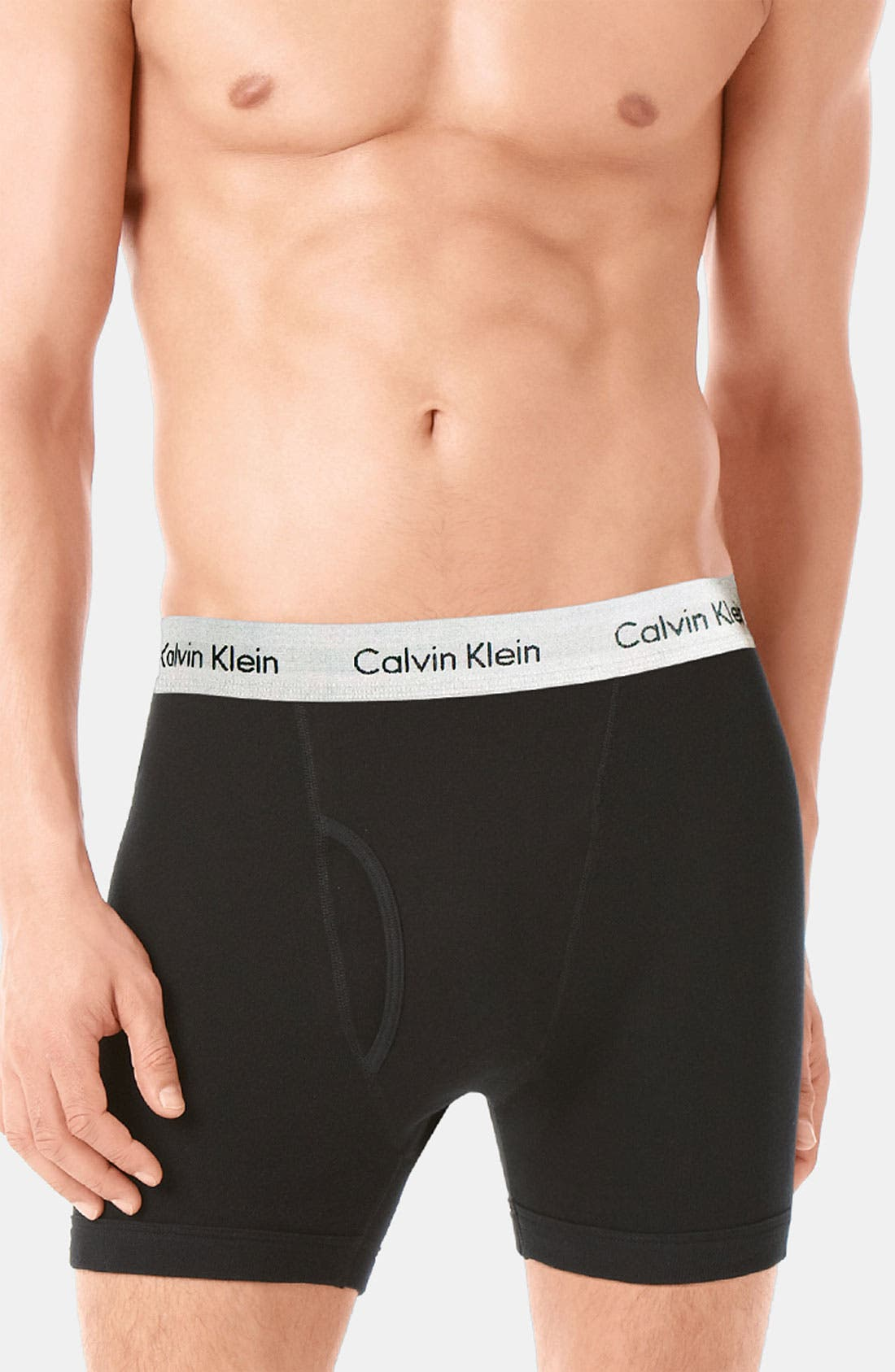 Main Image - Calvin Klein Boxer Briefs (Assorted 3-Pack)