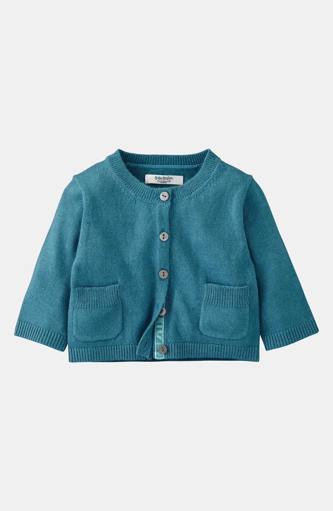 Main Image - Mini Boden 'Baby' Cardigan (Infant)