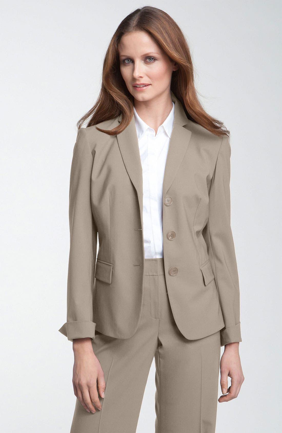 Main Image - Lafayette 148 New York 'Hayes' Stretch Wool Jacket