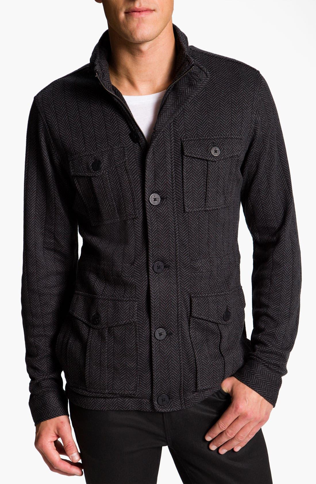 Alternate Image 1 Selected - Kane & Unke Herringbone Trim Fit Jacket