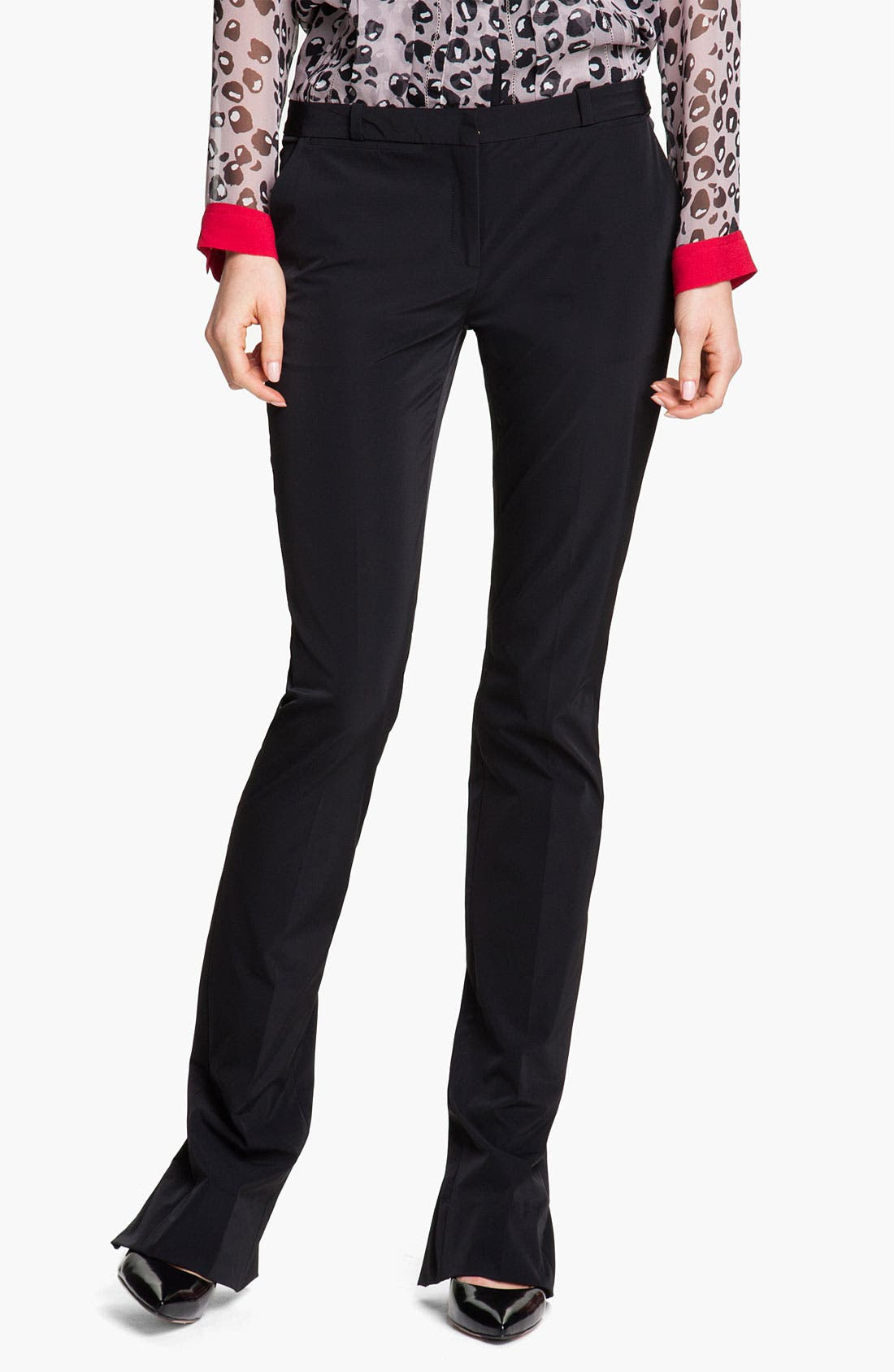 Alternate Image 1 Selected - Diane von Furstenberg 'Annabelle' Zip Hem Pants