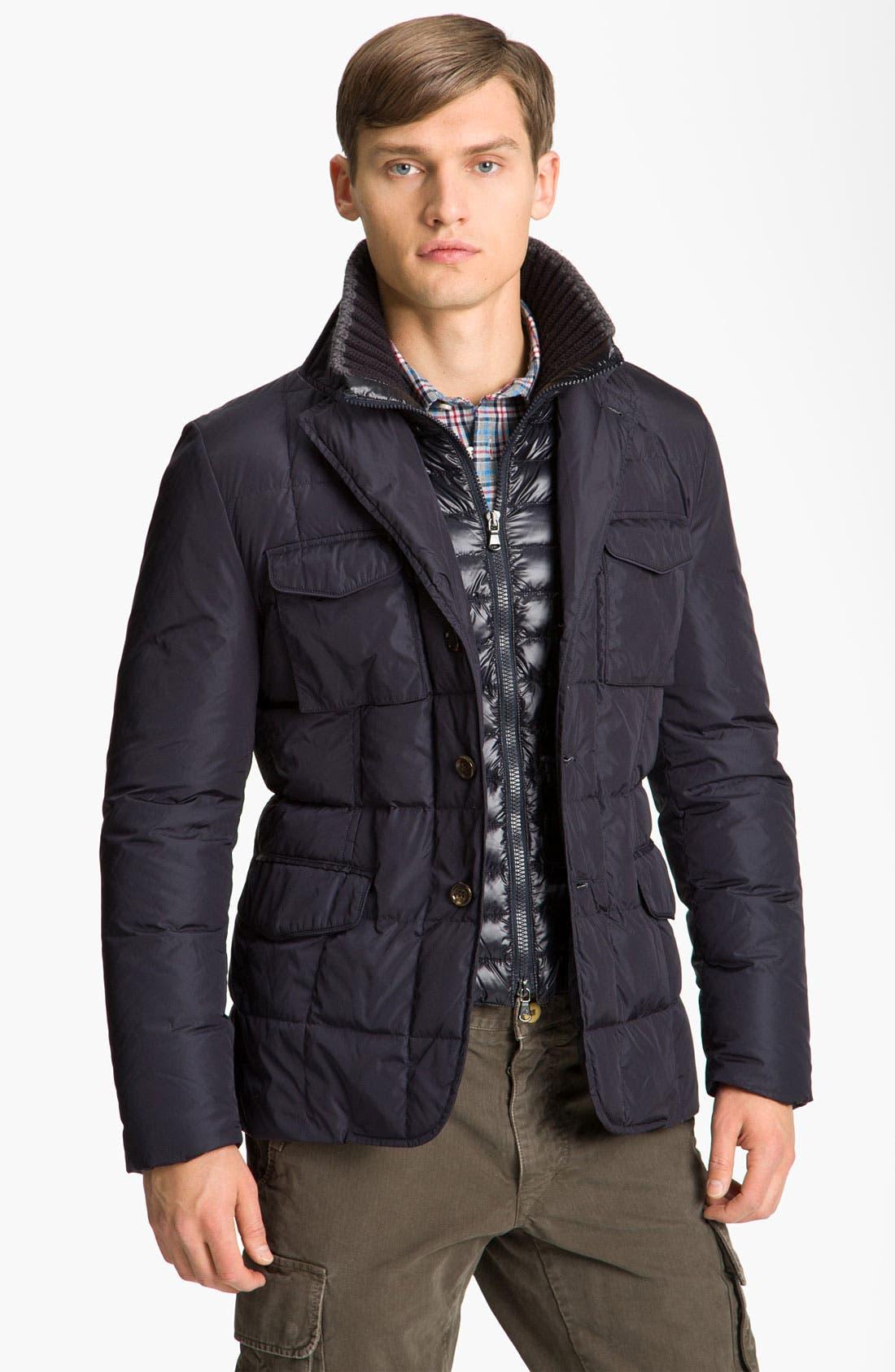 Main Image - Moncler 'Barbuda' Quilted Blazer Jacket