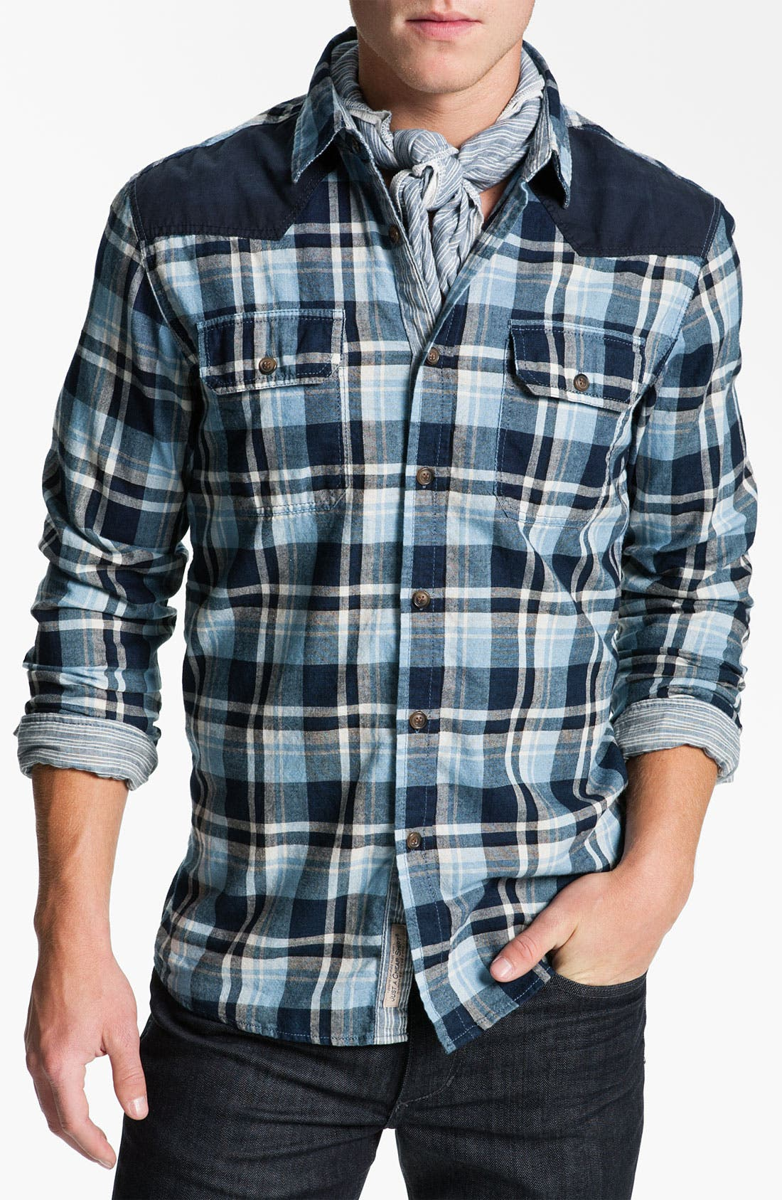 Alternate Image 4  - Just A Cheap Shirt Long Sleeve Woven Shirt
