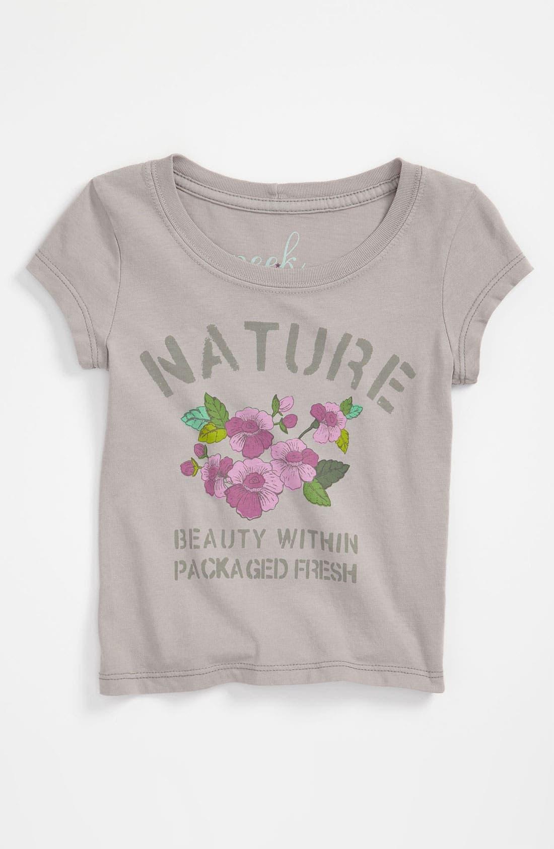 Alternate Image 1 Selected - Peek 'Nature' Tee (Toddler, Little Girls & Big Girls)