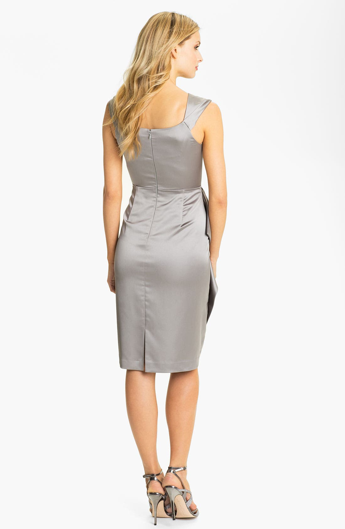 Alternate Image 2  - Maggy London Stretch Satin Sheath Dress (Regular & Petite)