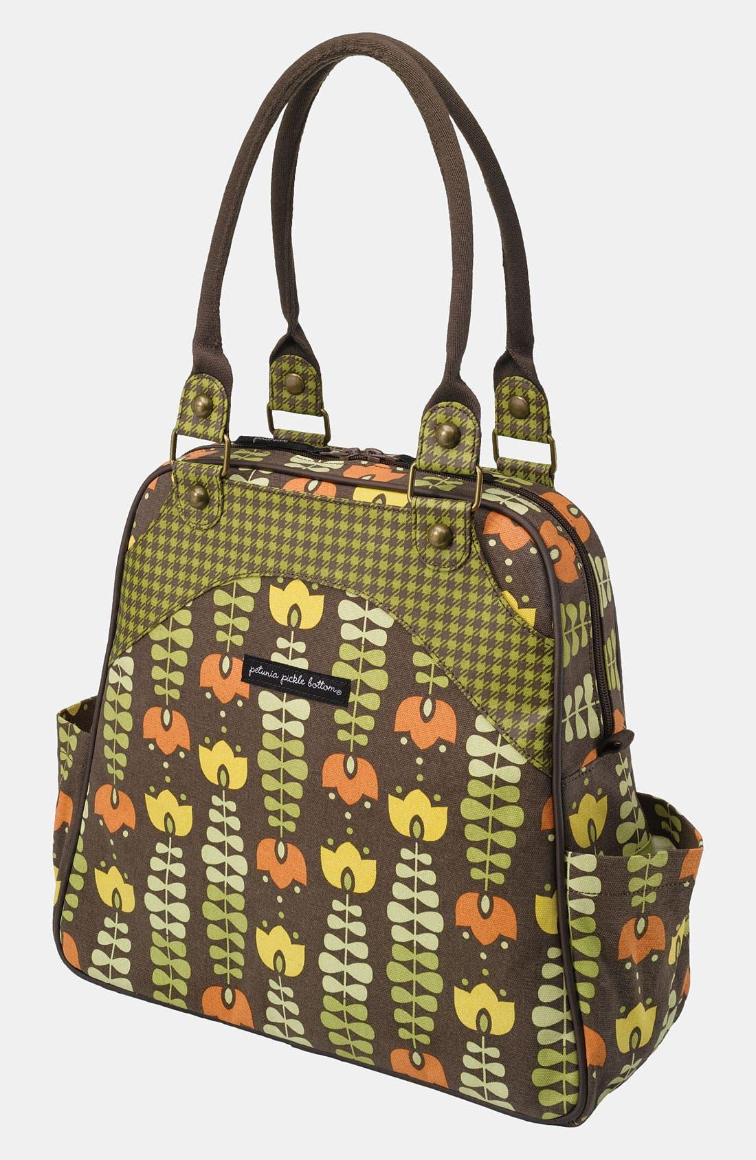 Main Image - Petunia Pickle Bottom 'Glazed Sashay' Organic Cotton Convertible Diaper Bag/Satchel