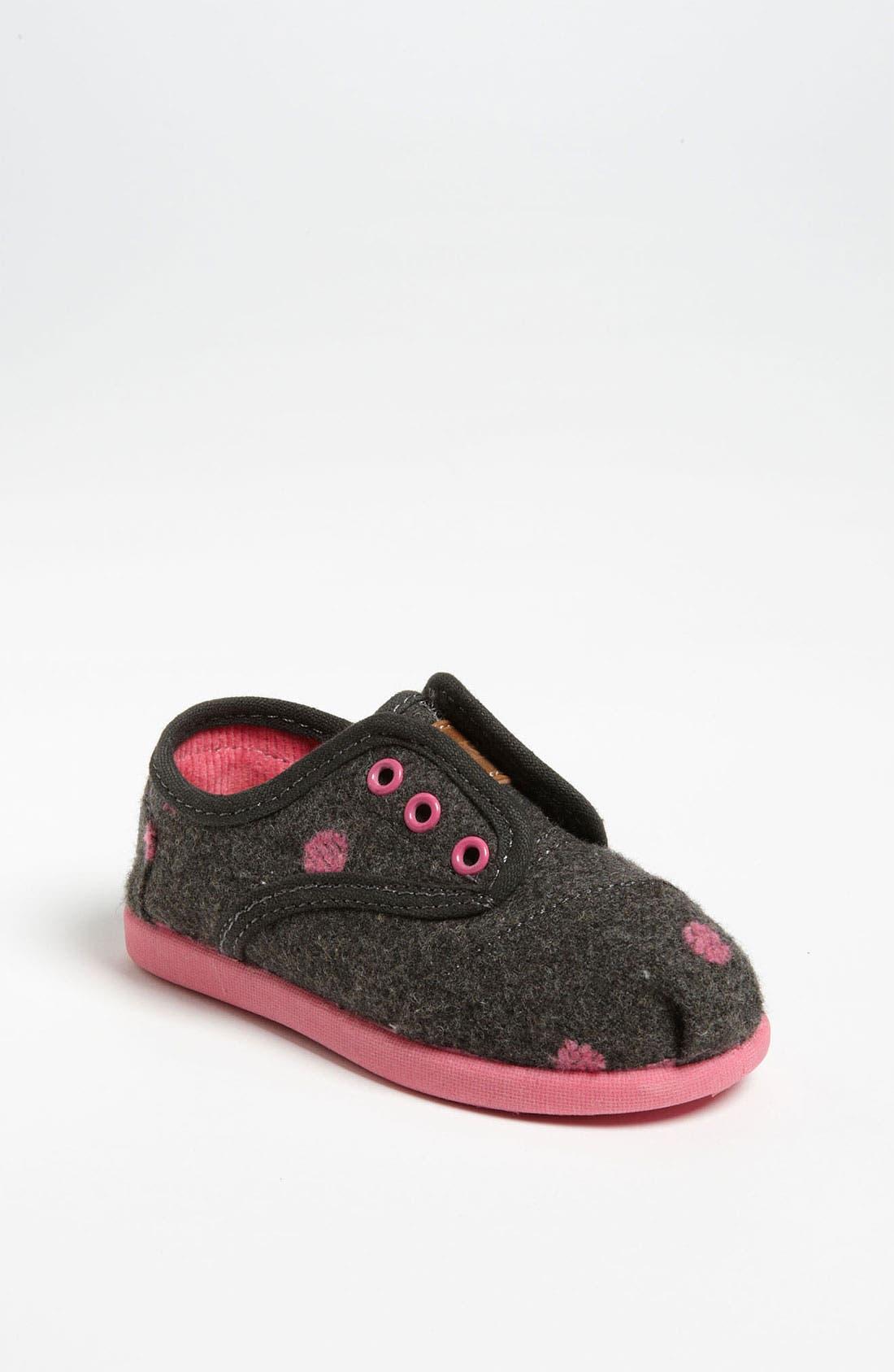 Alternate Image 1 Selected - TOMS 'Cordones - Tiny' Wool Slip-On (Baby, Walker & Toddler)