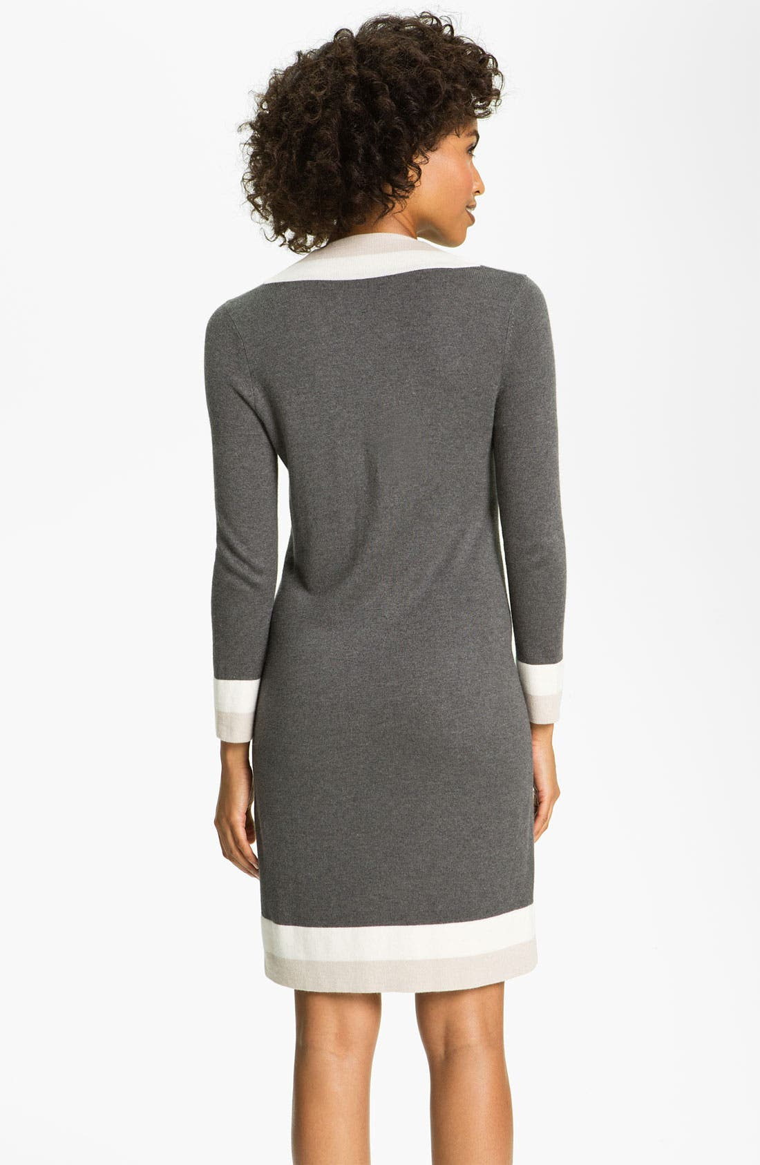 Alternate Image 2  - Felicity & Coco Colorblock V-Neck Sweater Dress (Regular & Petite) (Nordstrom Exclusive)