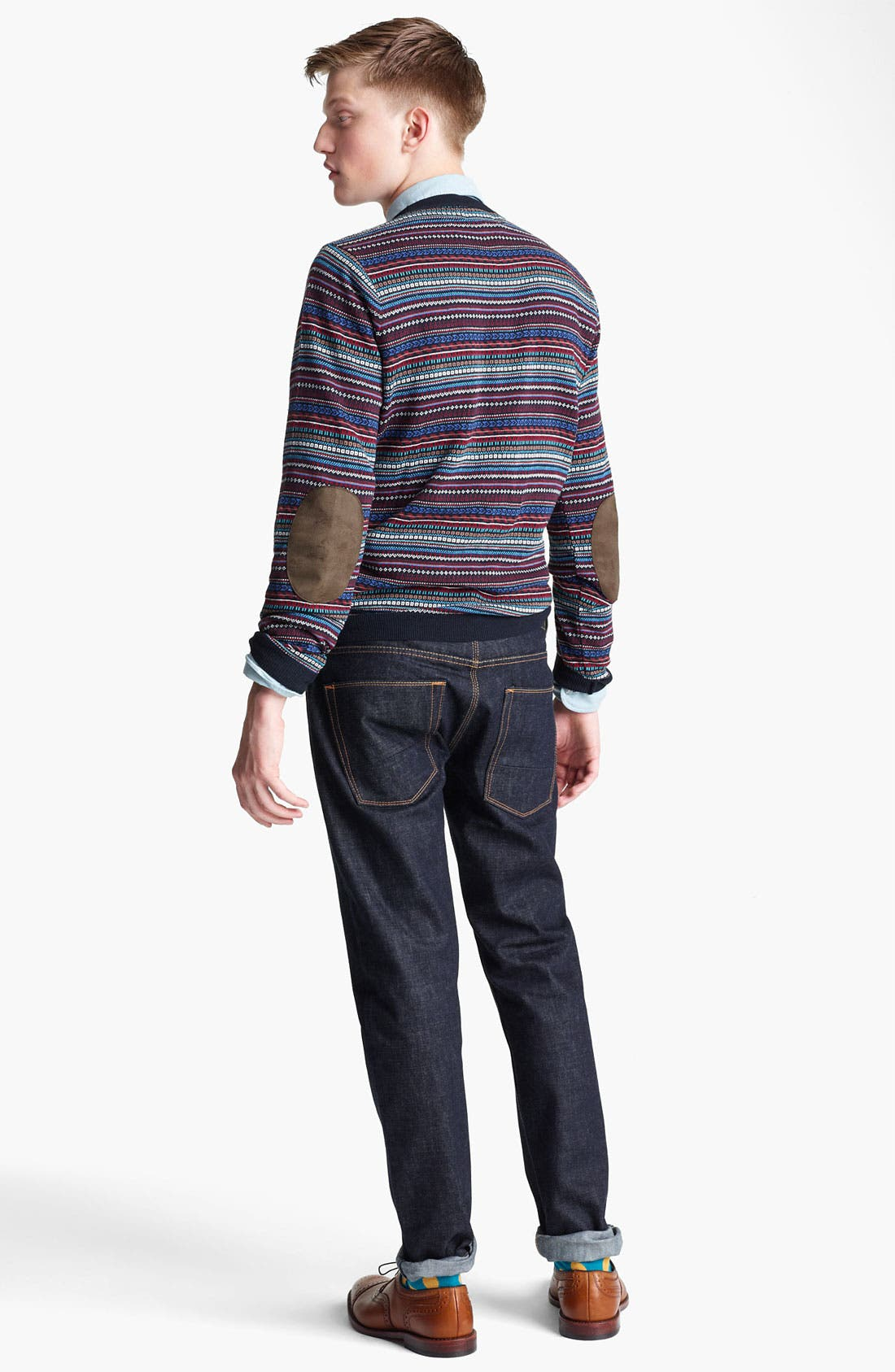 Alternate Image 5  - Topman Pattern Knit Crewneck Sweater