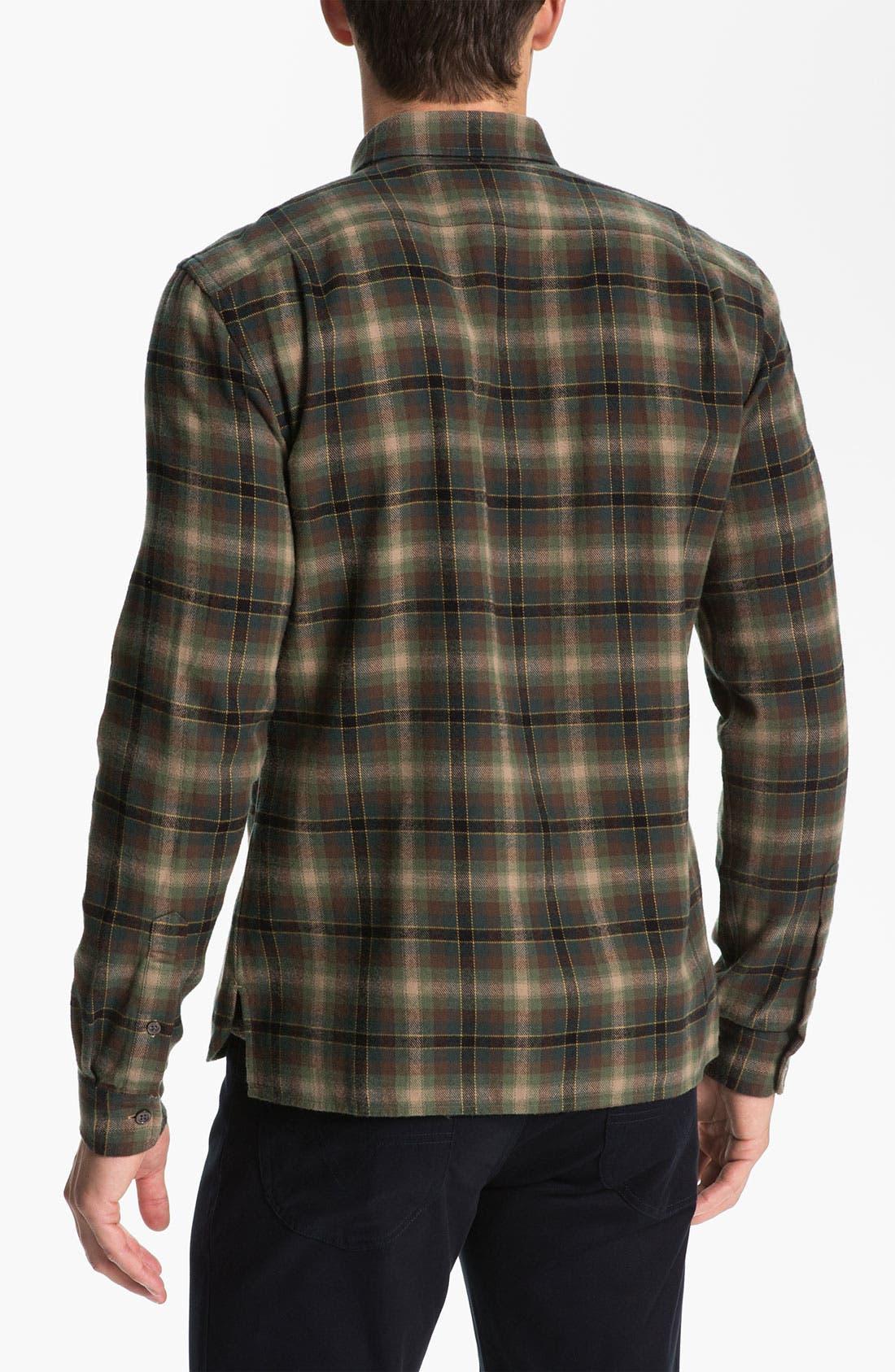 Alternate Image 2  - Vince Plaid Cotton Flannel Shirt