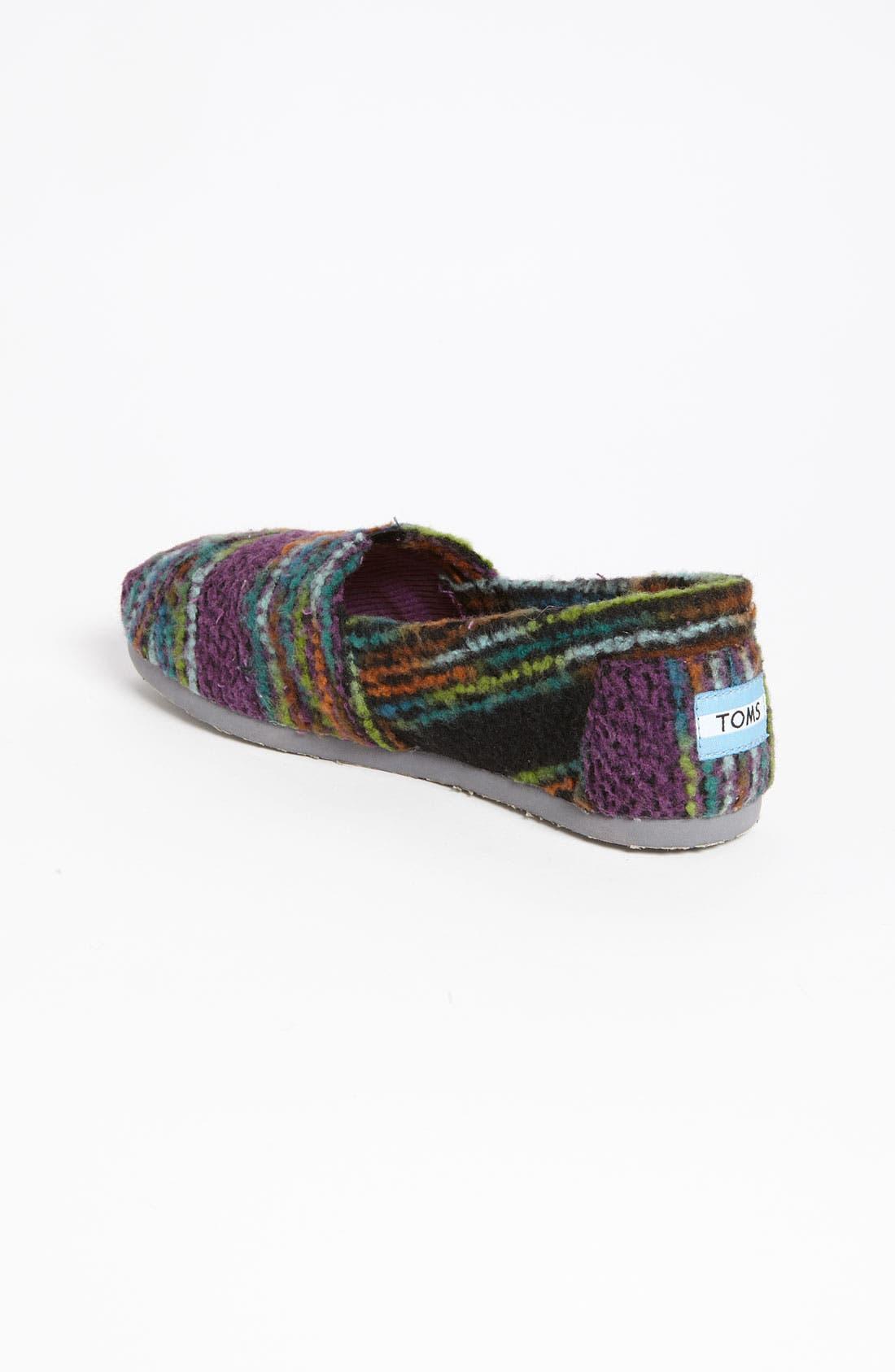 Alternate Image 2  - TOMS 'Classic - Stripe' Woolen Slip-On (Women)