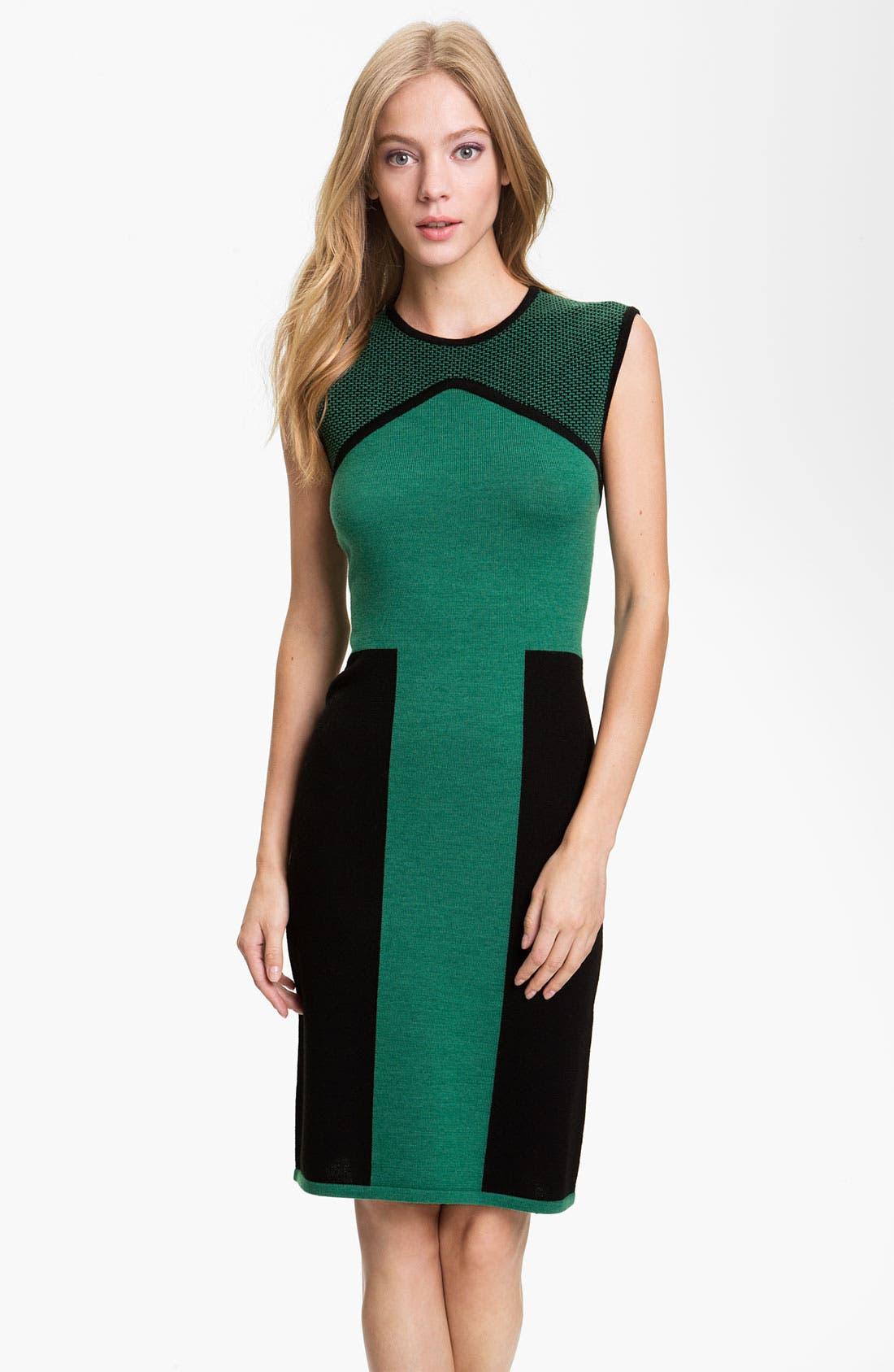 Main Image - Rachel Roy Colorblock Wool Shift Dress