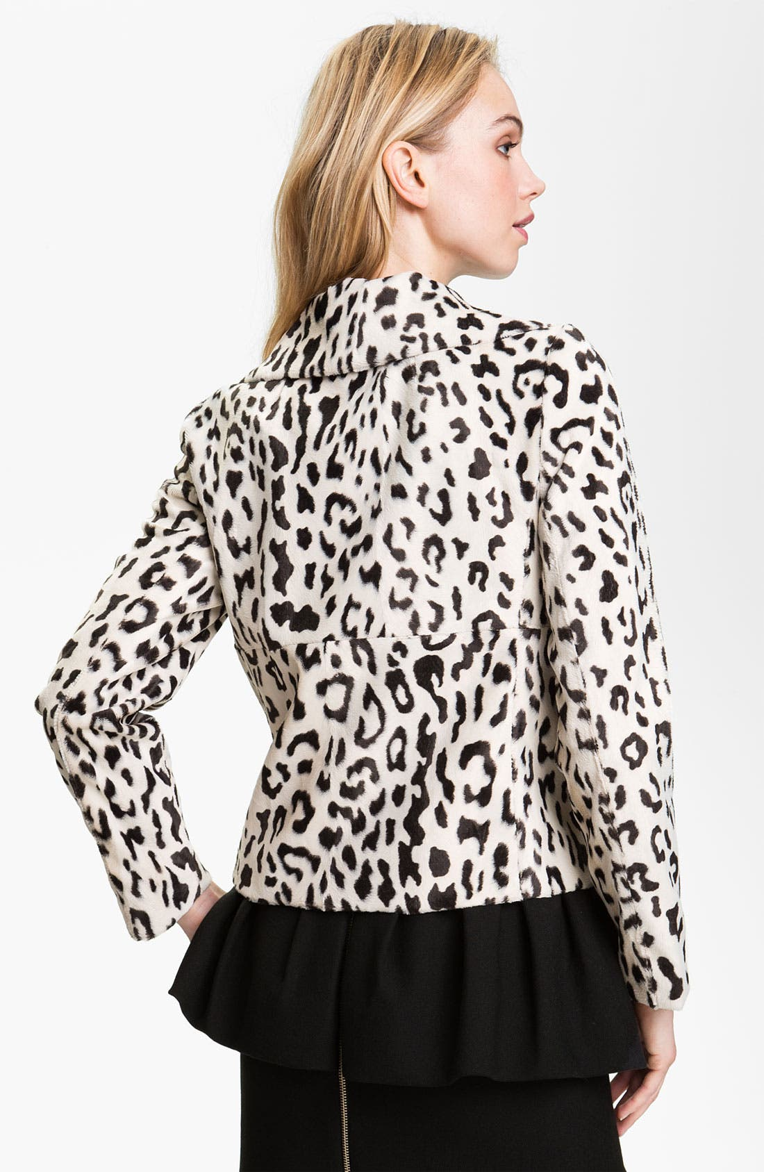 Alternate Image 2  - Milly Double Breasted Faux Fur Peacoat