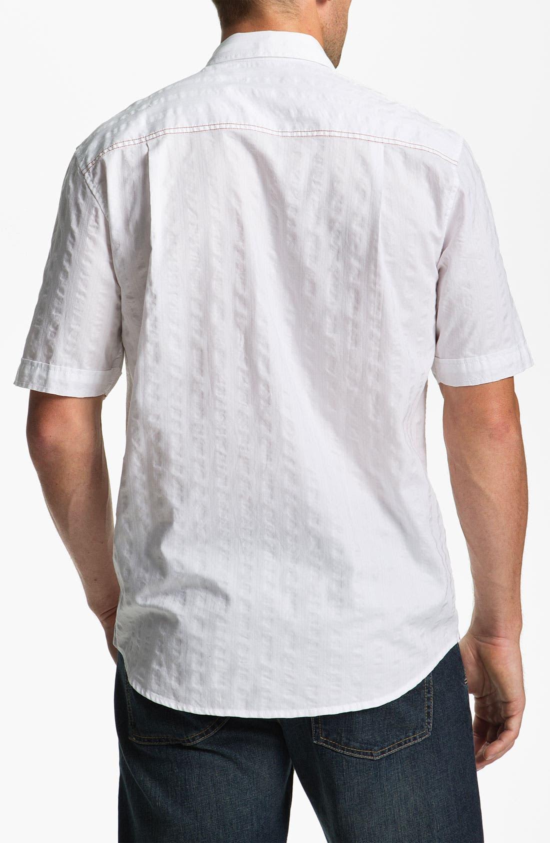 Alternate Image 2  - Tommy Bahama 'White Stripe' Sport Shirt