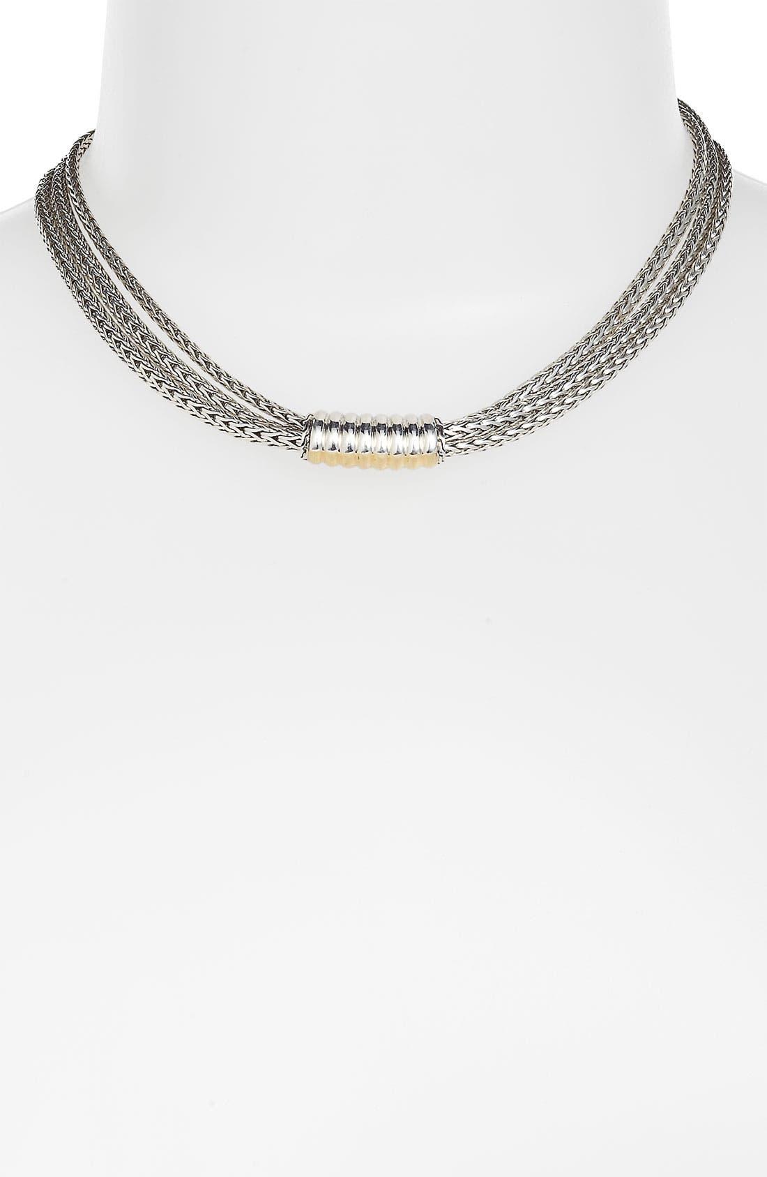 Alternate Image 1 Selected - John Hardy 'Bedeg' Triple Row Chain Necklace