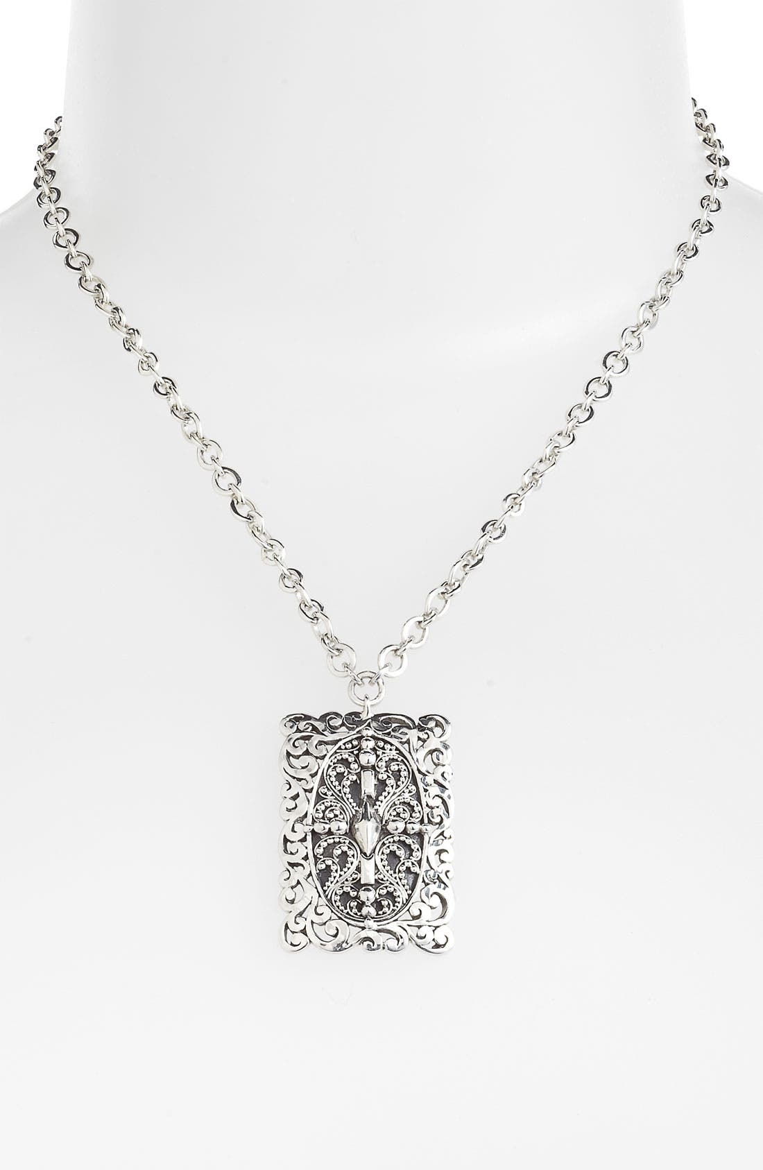 Alternate Image 1 Selected - Lois Hill 'Haveli' Rectangular Pendant Necklace