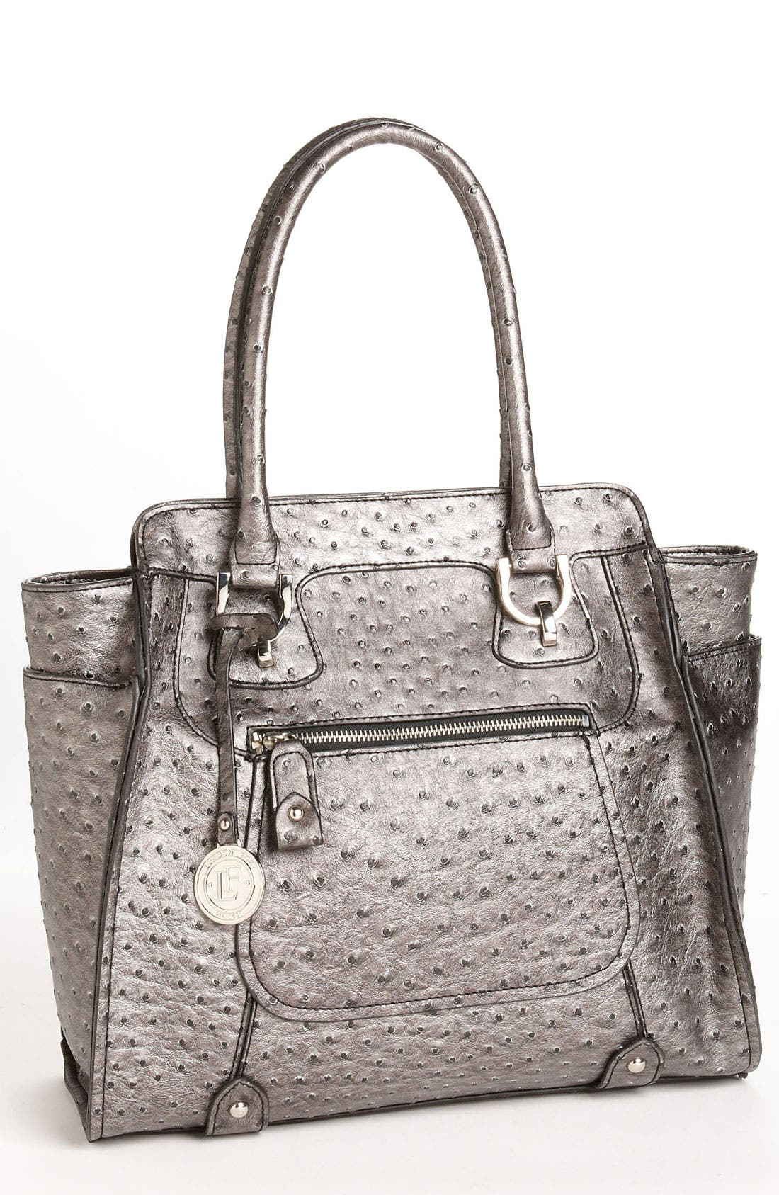 Main Image - London Fog Ostrich Embossed Tote