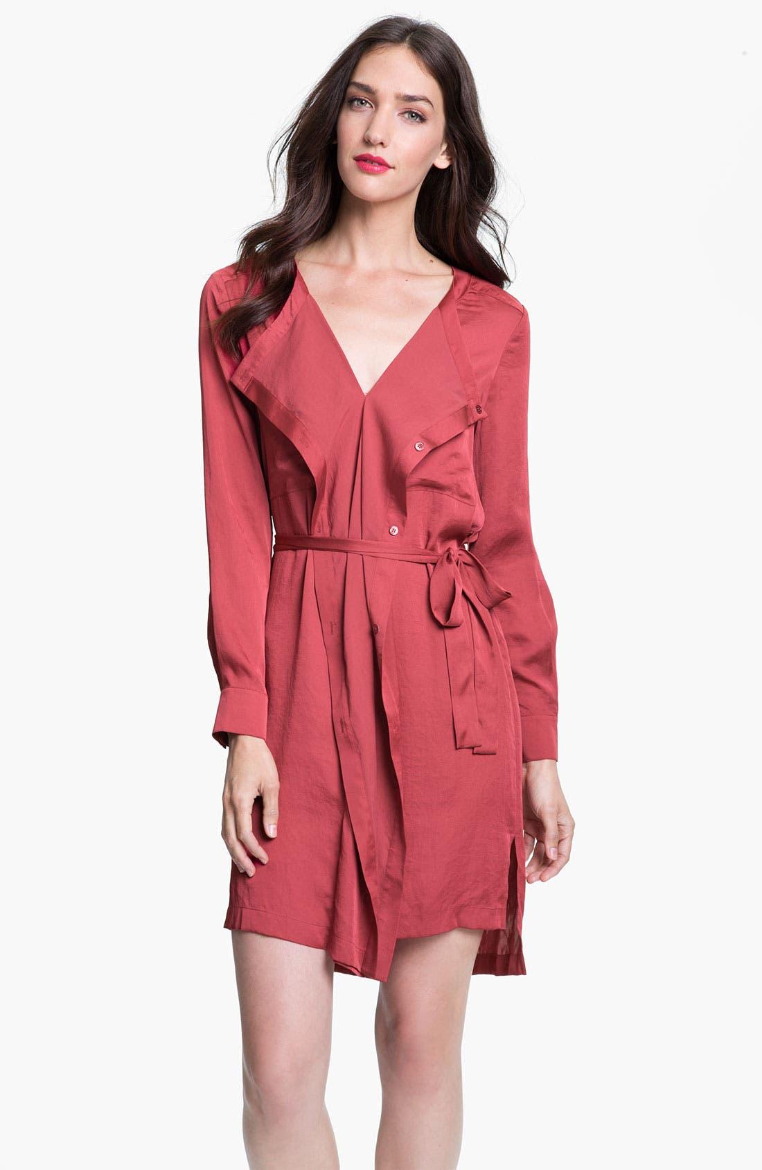 Alternate Image 1 Selected - BCBGMAXAZRIA 'Tarin' Cascade Shirtdress