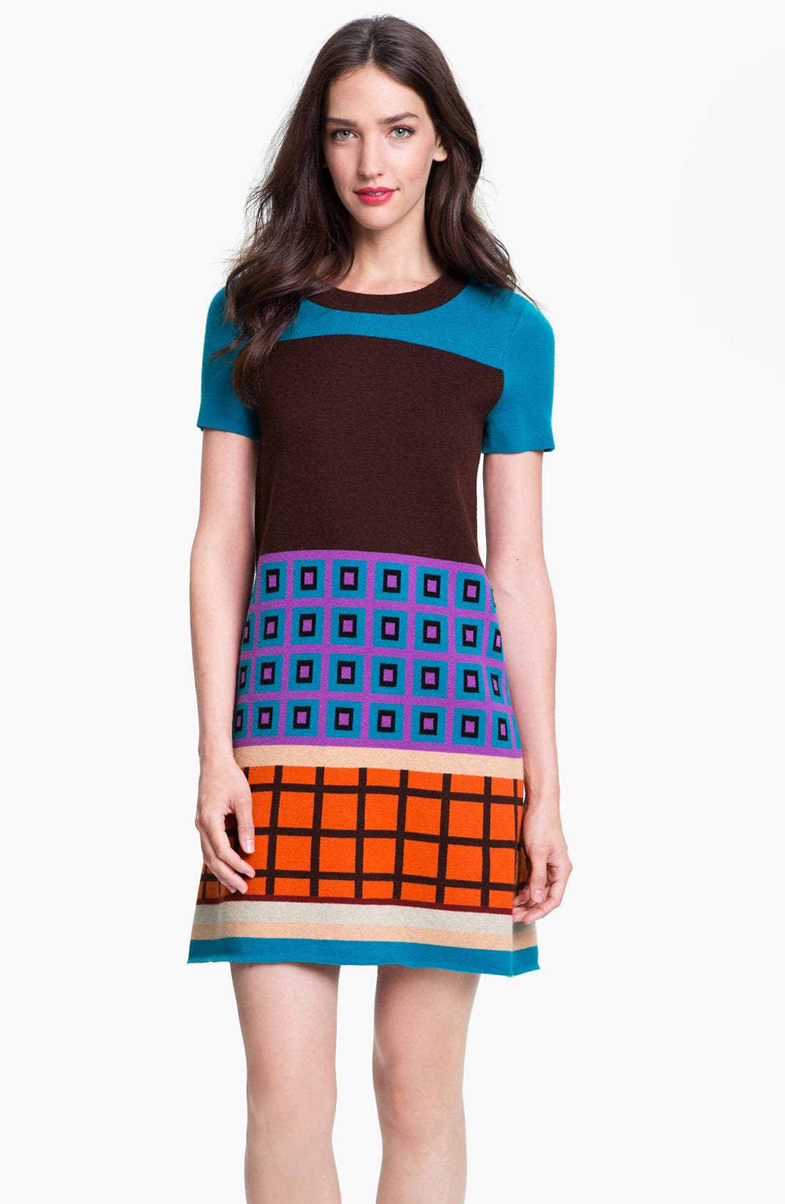 Main Image - kate spade new york 'freyda' wool blend sweater shift dress