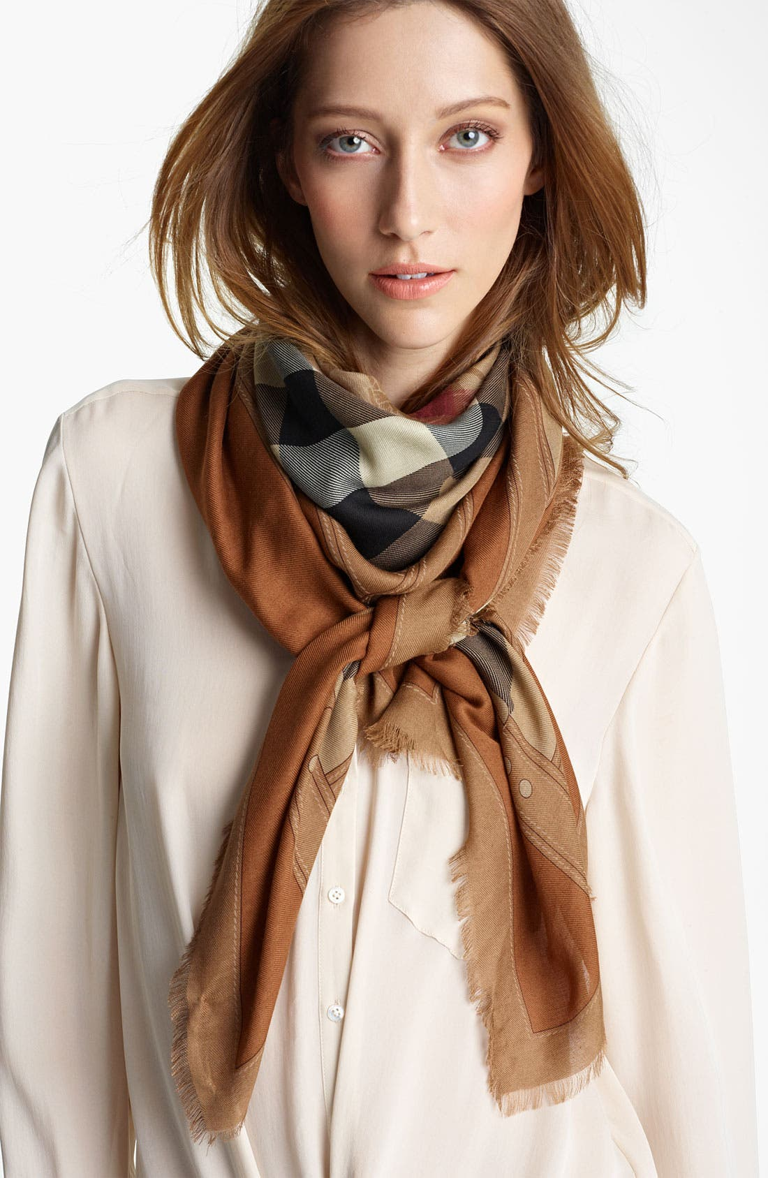 Alternate Image 1 Selected - Burberry 'Haymarket Check' Scarf