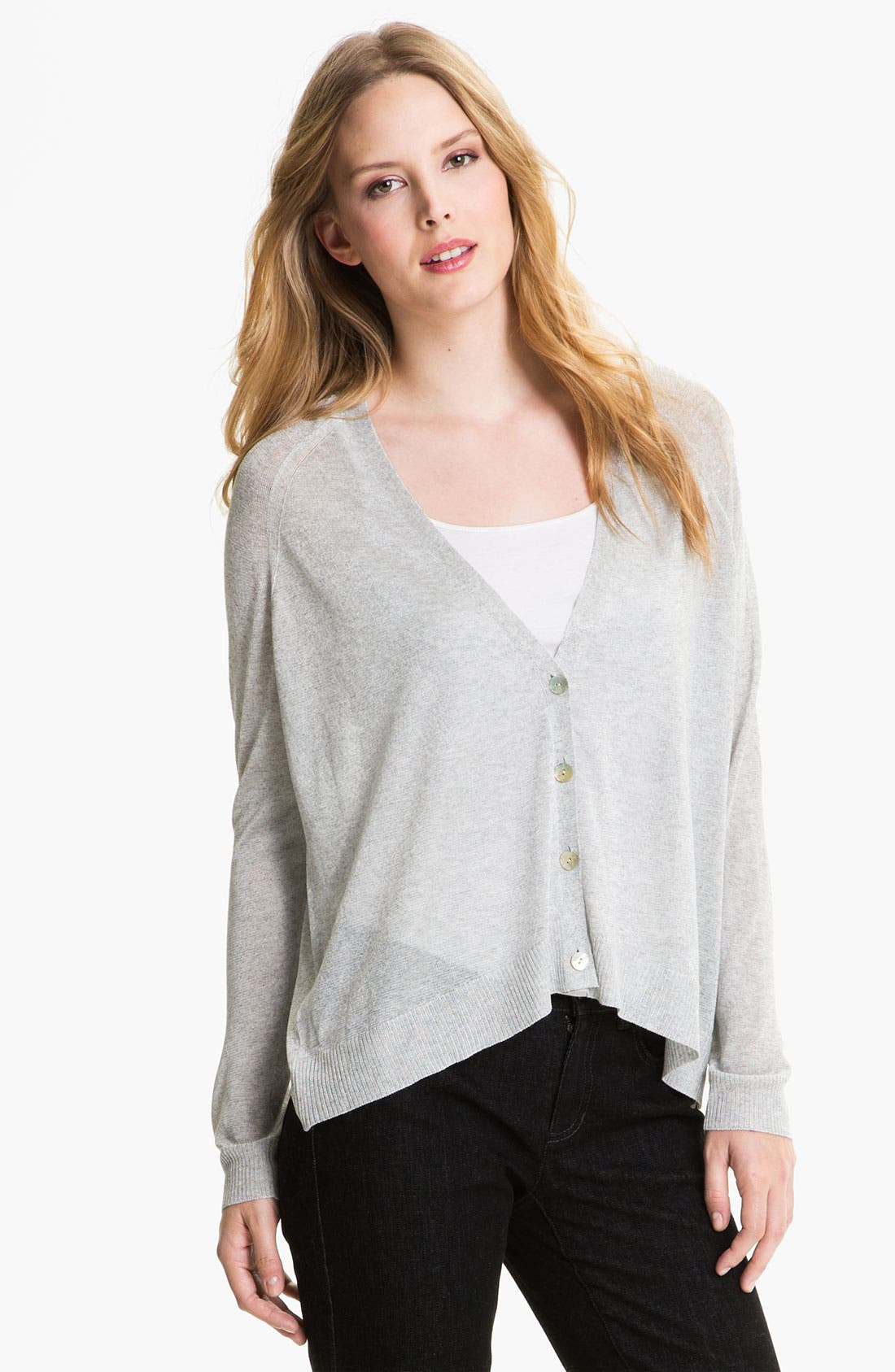Alternate Image 1 Selected - Eileen Fisher 'Liquid Shine' Cardigan