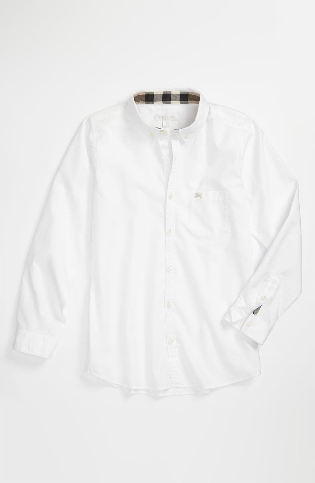 Alternate Image 1 Selected - Burberry Oxford Shirt (Big Boys)