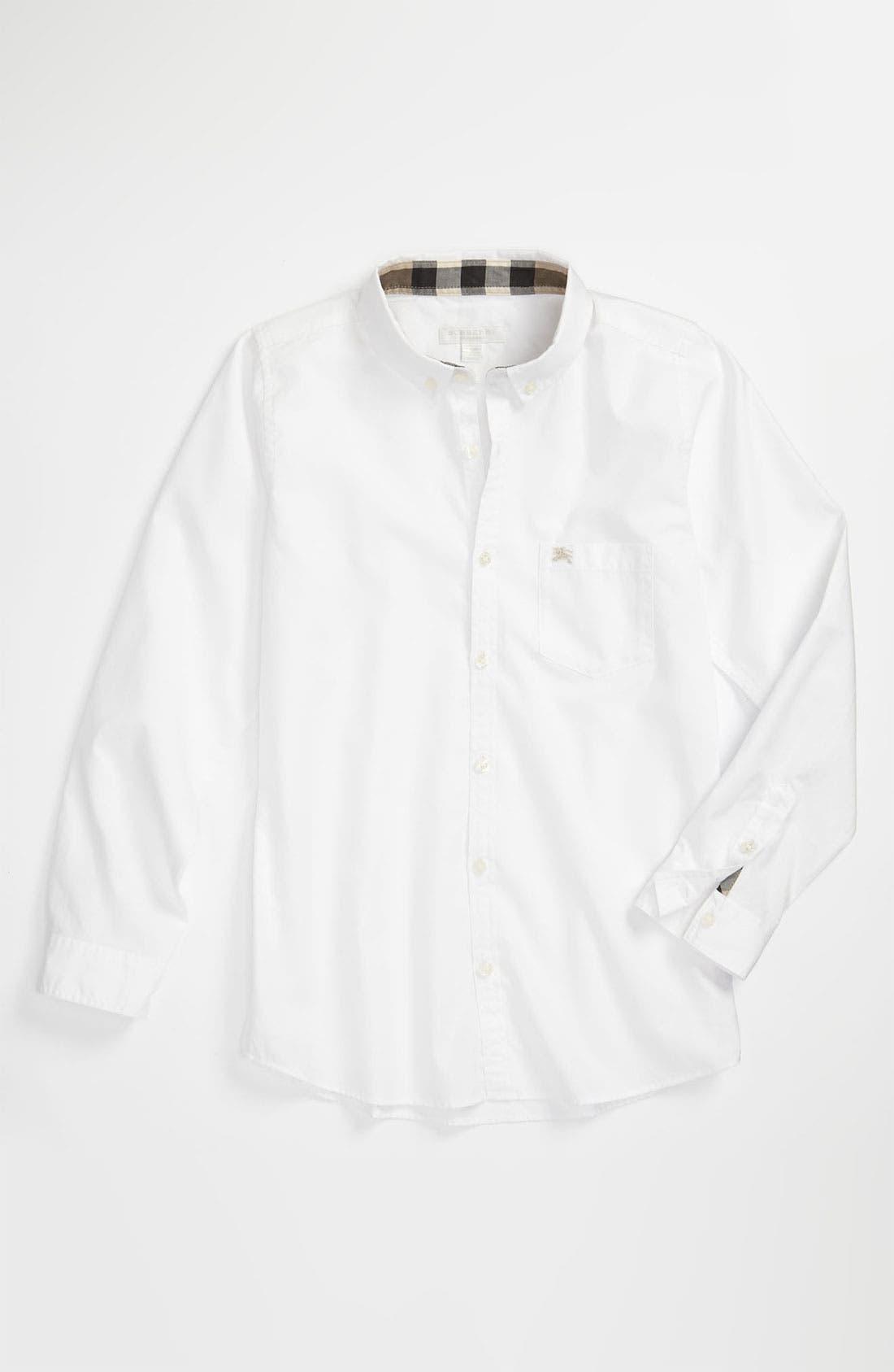 Main Image - Burberry Oxford Shirt (Big Boys)