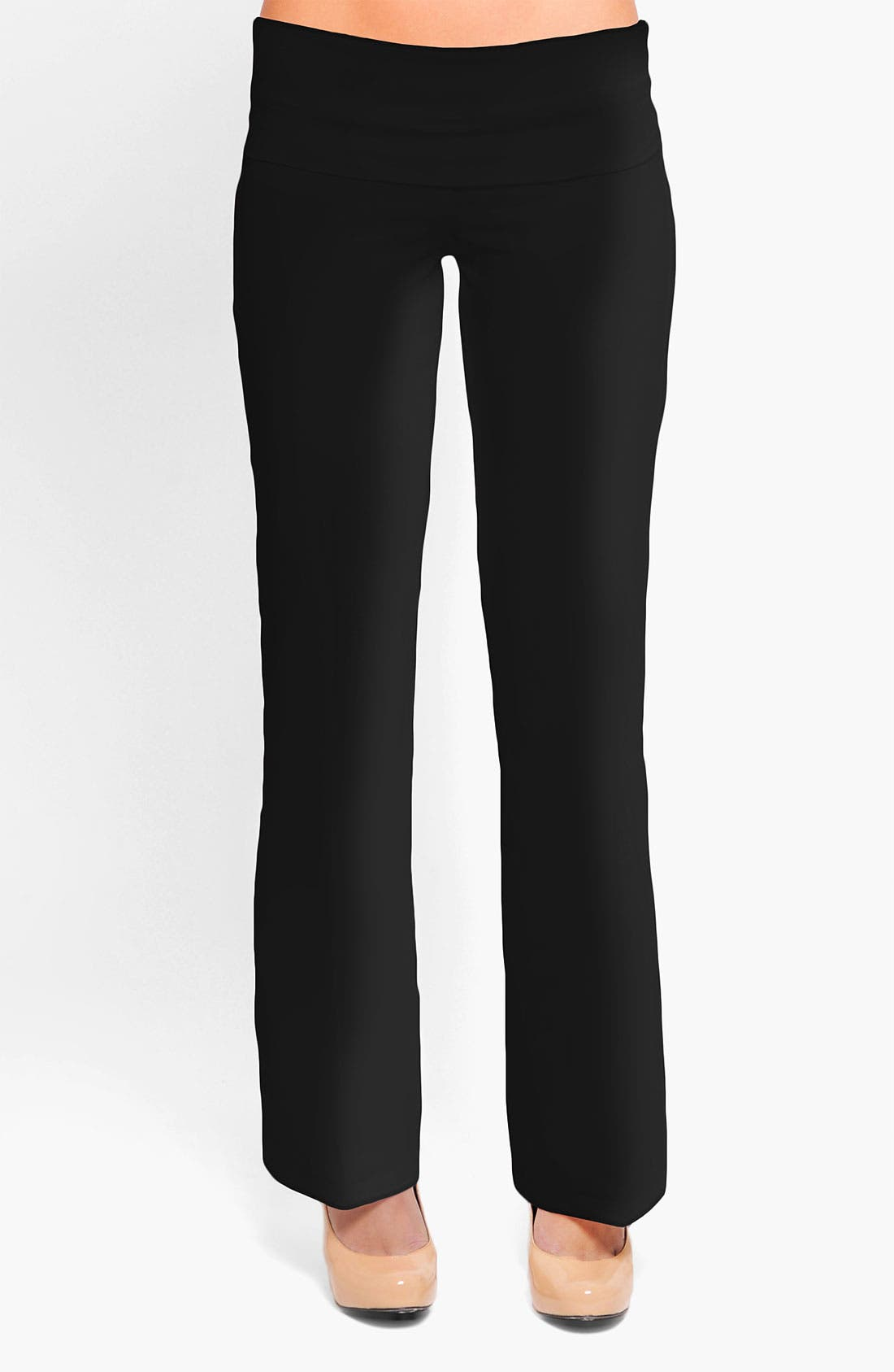 Main Image - Olian 'Kate' Maternity Straight Leg Woven Pants