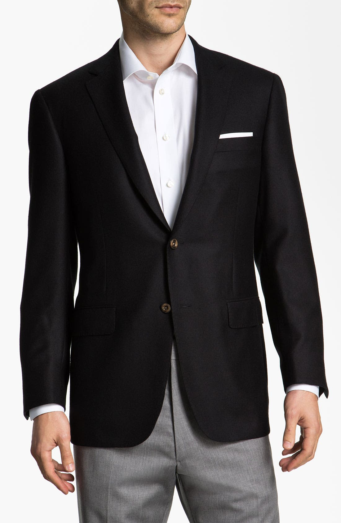 Alternate Image 1 Selected - Samuelsohn Cashmere Blazer