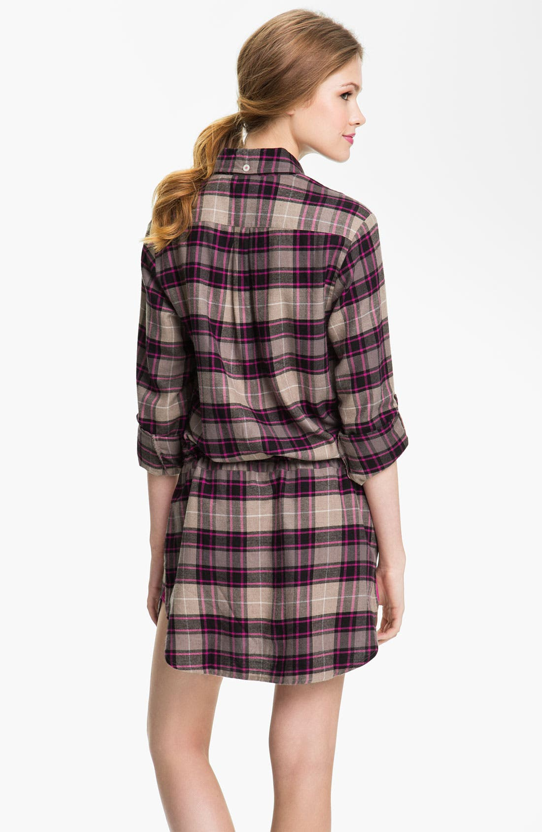 Alternate Image 2  - DKNY 'Man's World' Flannel Nightshirt
