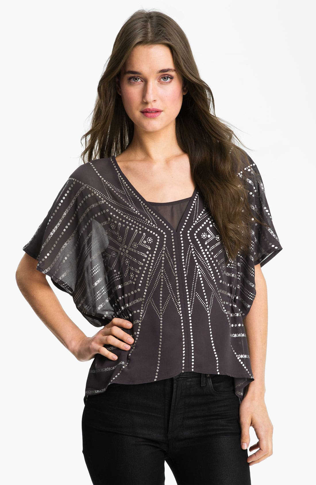 Main Image - Sanctuary 'Lotus' Metallic Print Top