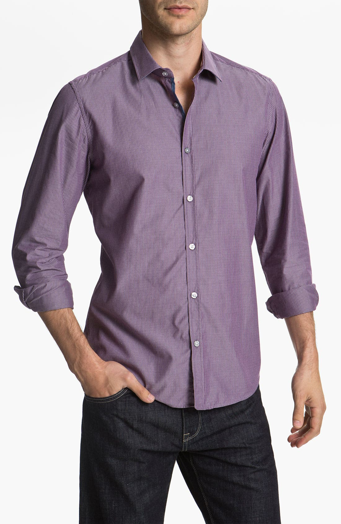 Alternate Image 1 Selected - BOSS Black 'Lorenzo' Regular Fit Sport Shirt