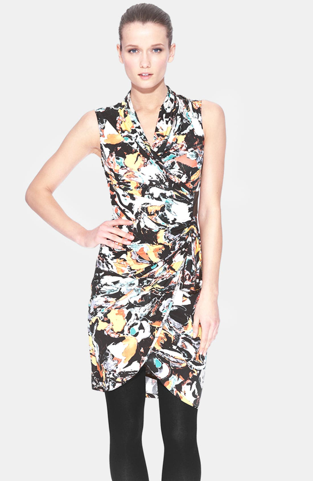 Main Image - Marc New York by Andrew Marc Print Surplice Sheath Dress