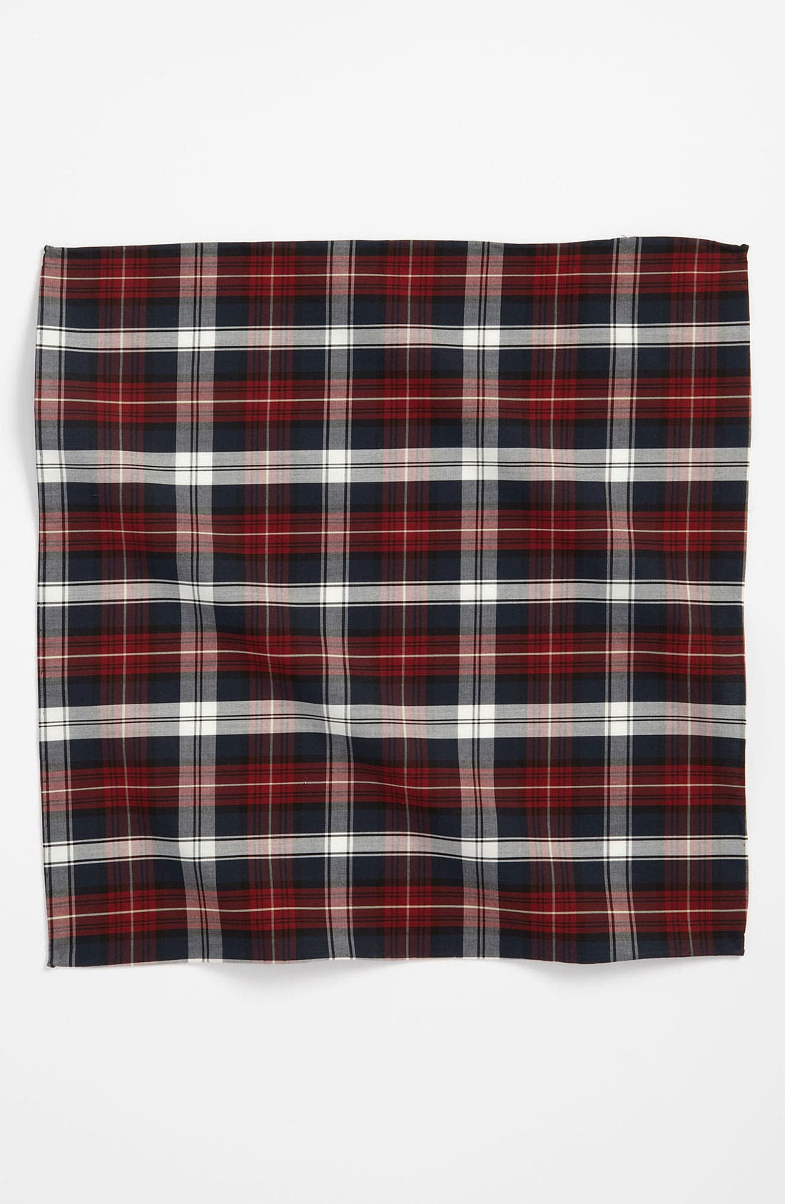 Alternate Image 2  - The Tie Bar Plaid Cotton Pocket Square
