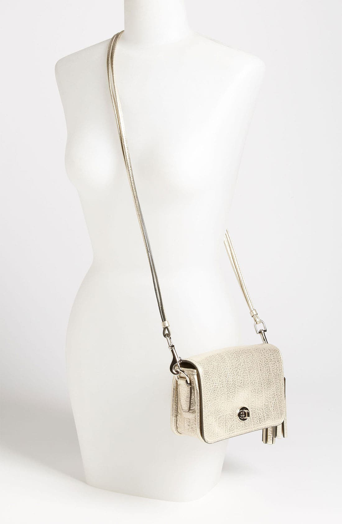 Alternate Image 2  - COACH 'Legacy - Penny' Metallic Leather Crossbody Bag