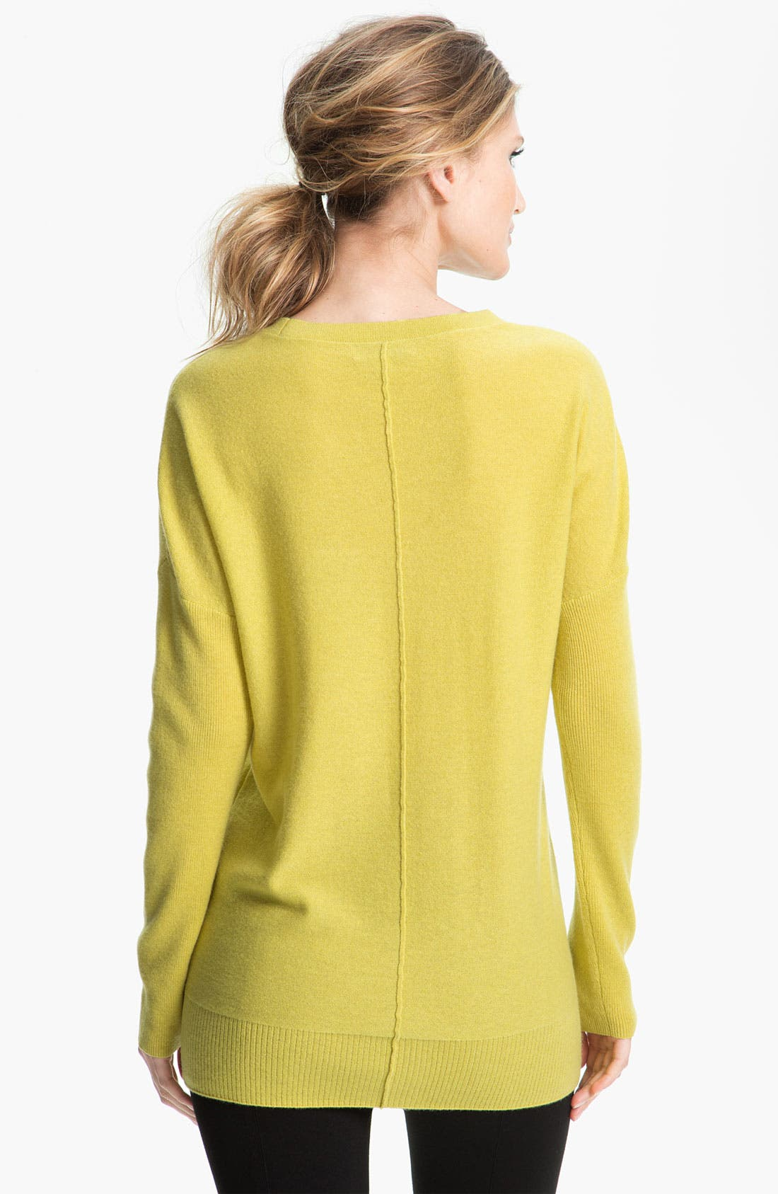 Alternate Image 2  - Nordstrom Collection Cashmere Tunic Sweater