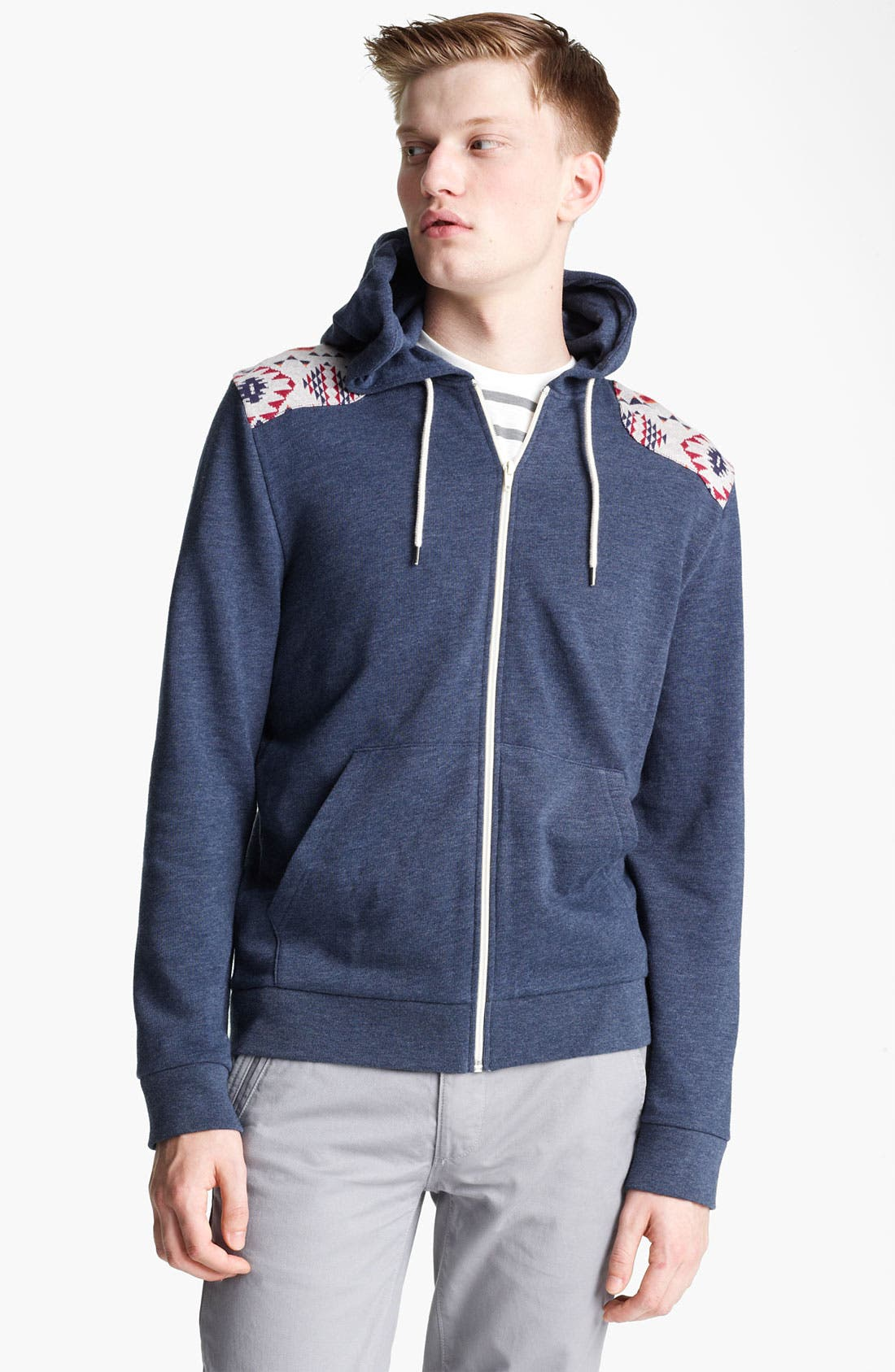 Alternate Image 1 Selected - Topman Marl Pattern Hoodie