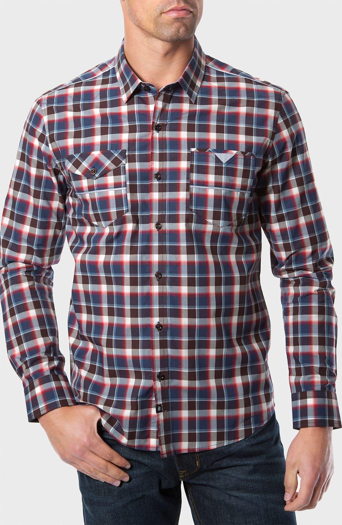 Main Image - 7 Diamonds 'The Ride' Check Trim Fit Cotton Sport Shirt