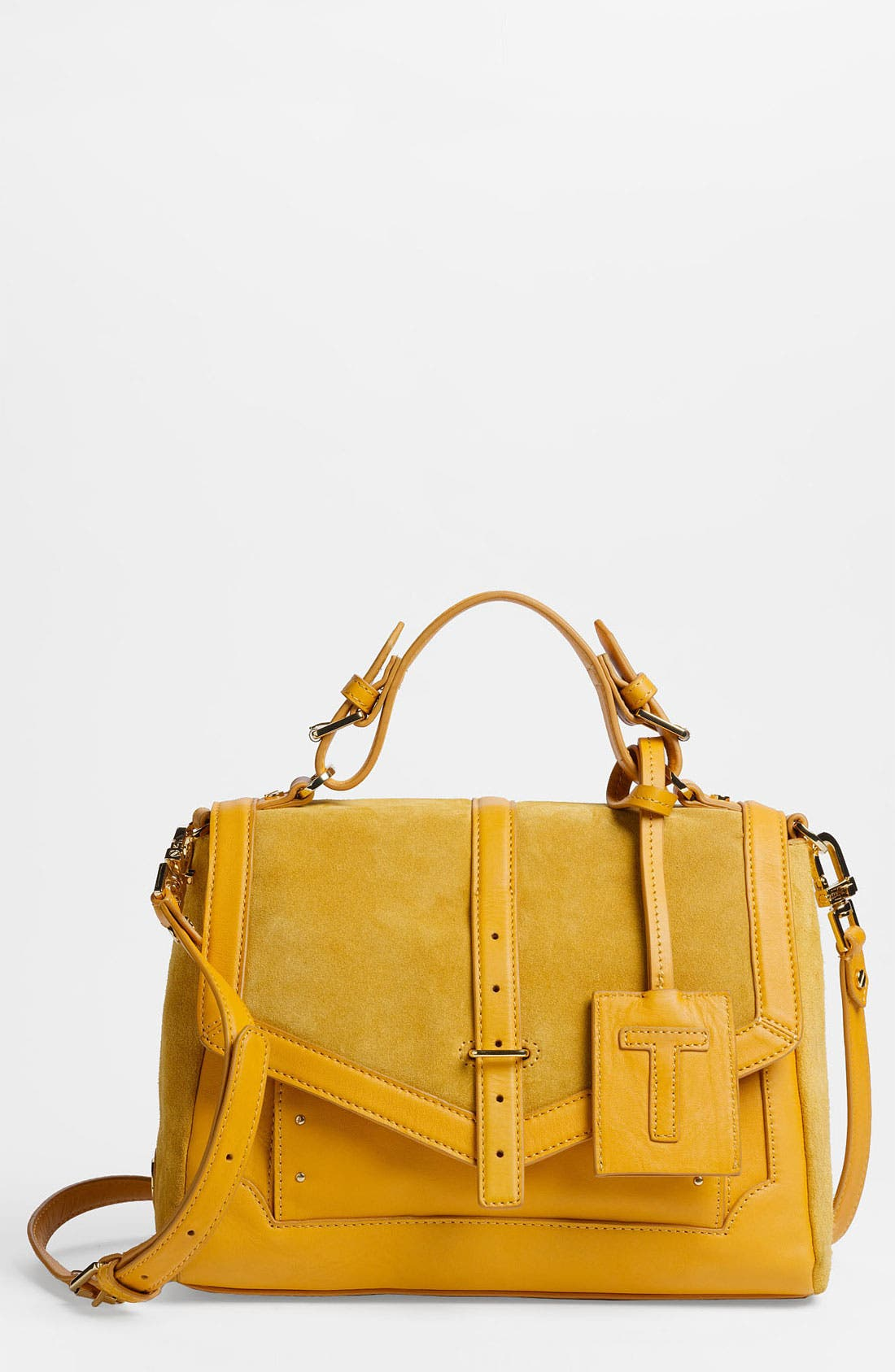 Main Image - Tory Burch '797 - Medium' Suede & Leather Satchel