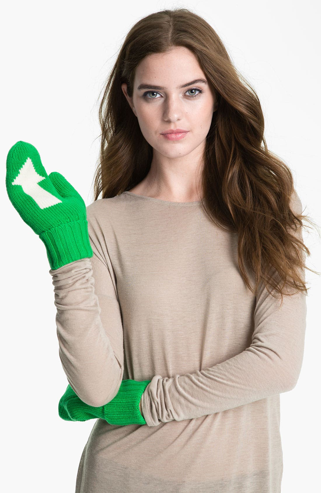 Alternate Image 1 Selected - kate spade new york 'big apple - arrow' mittens