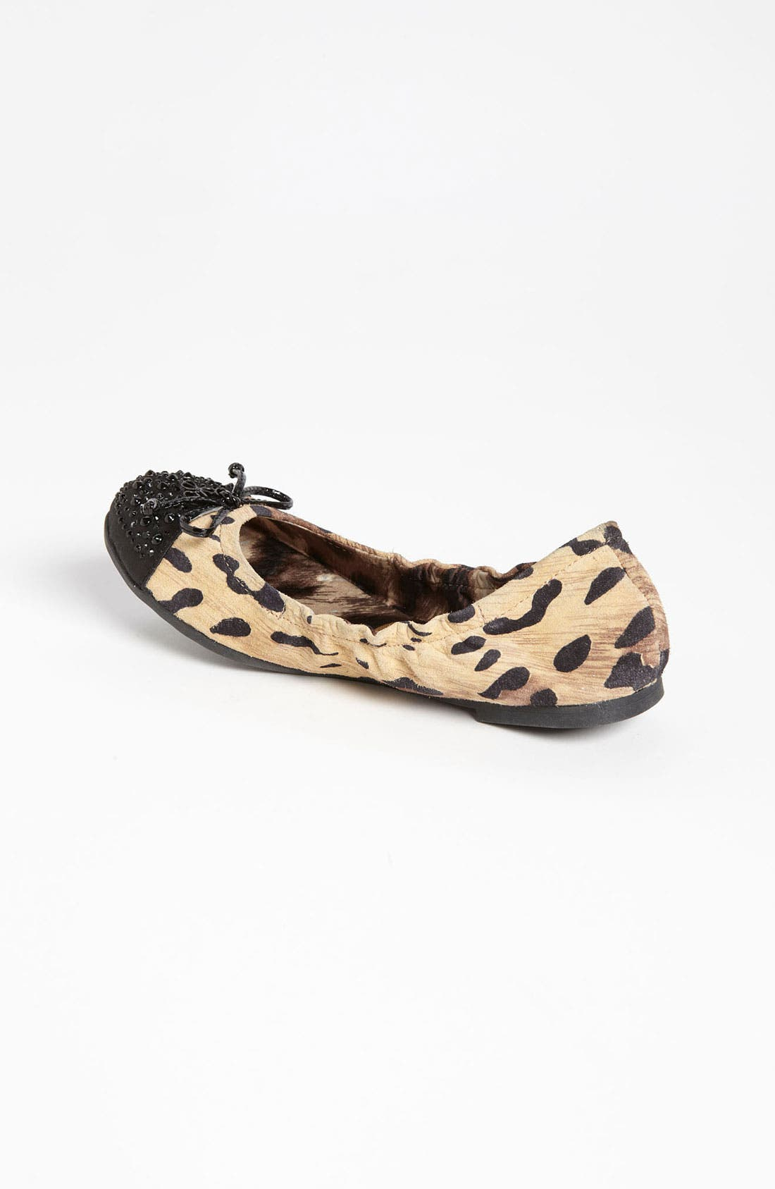 Alternate Image 2  - Sam Edelman Leopard Print Flat (Toddler, Little Kid & Big Kid)