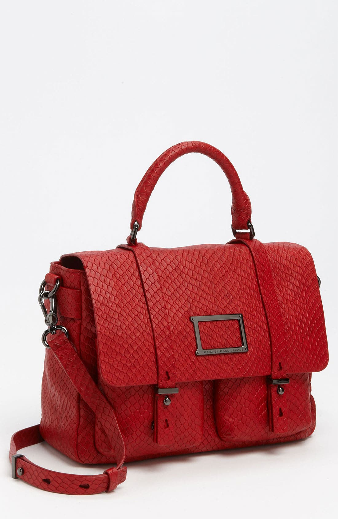 Alternate Image 1 Selected - MARC BY MARC JACOBS 'Werdie' Snake Embossed Messenger Bag