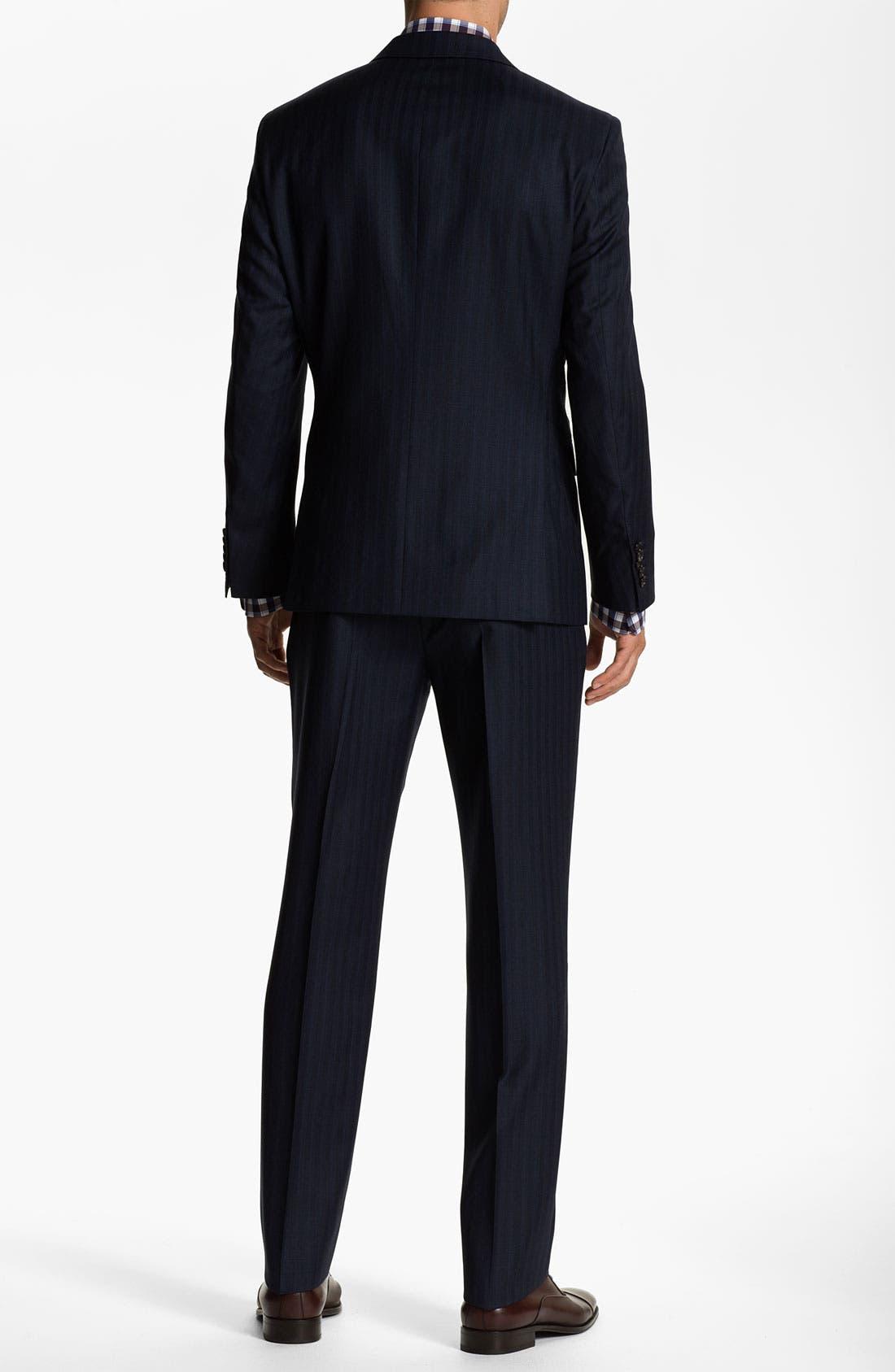 Alternate Image 3  - BOSS Selection 'Howard/Court' Trim Fit Herringbone Suit