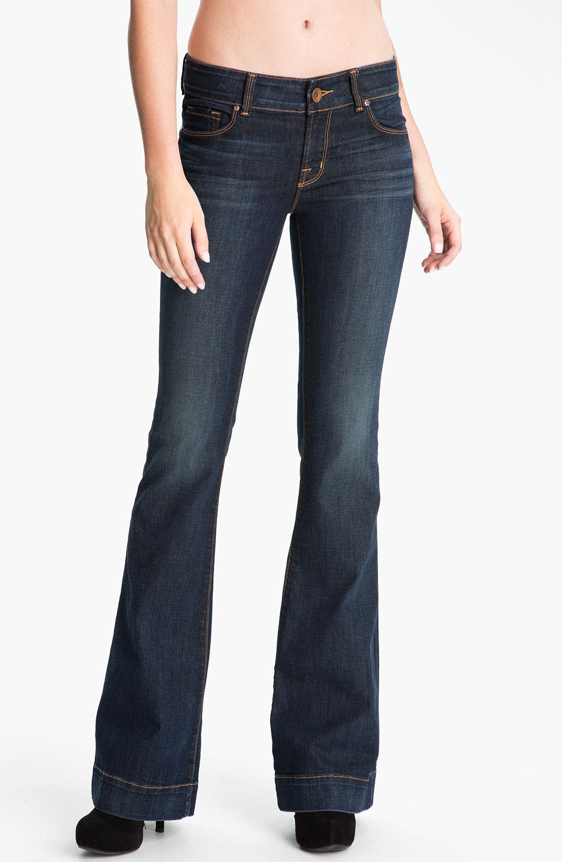 Alternate Image 1 Selected - J Brand 'Love Story' Bellbottom Stretch Jeans